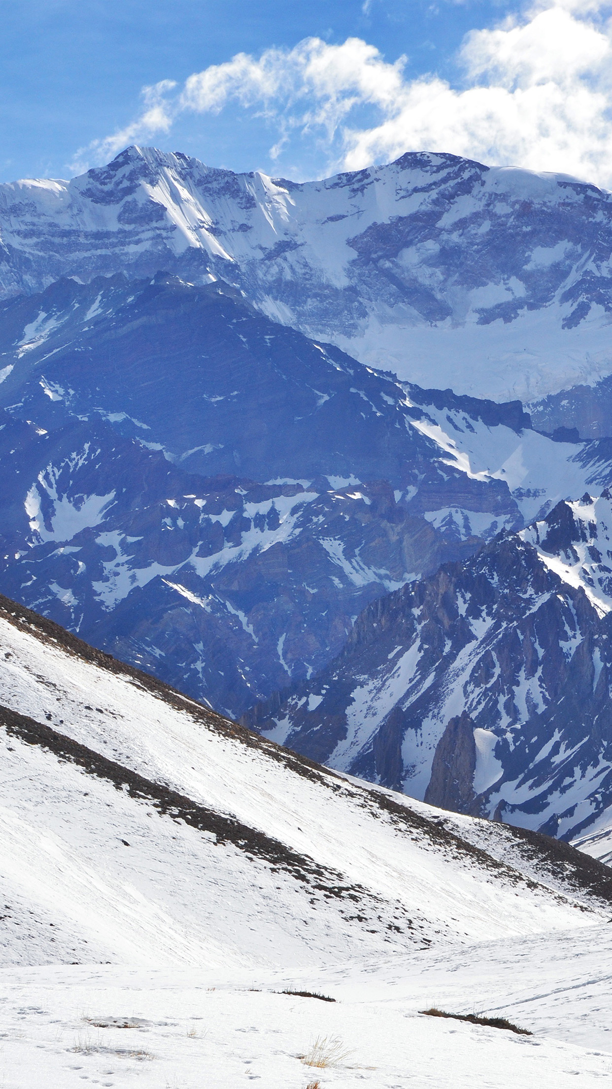 Winter mountains iphone wallpaper