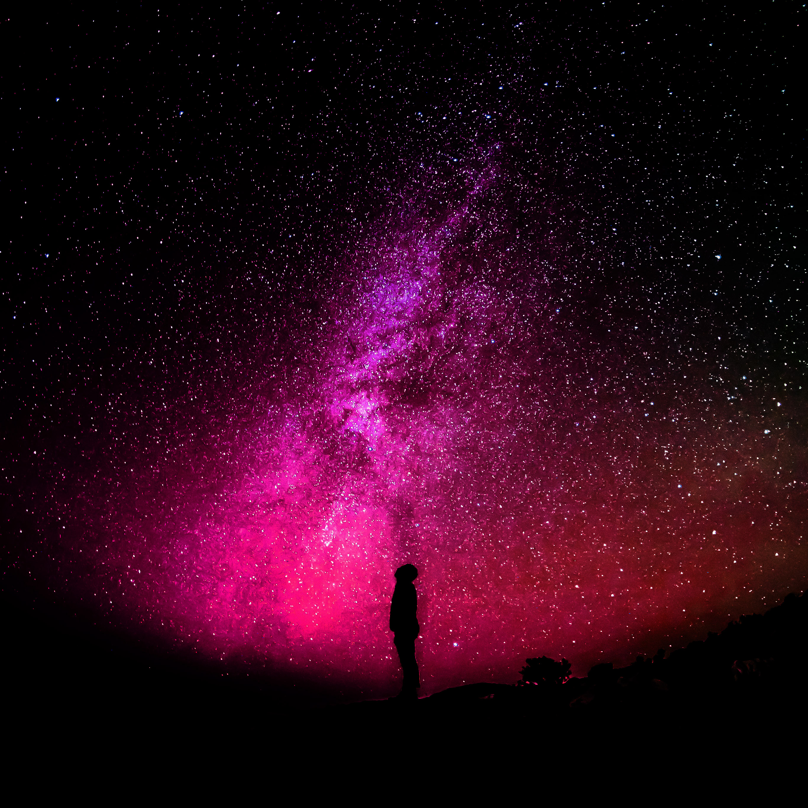 I love papers nb17 sky galaxy milkyway space night red - Space night sky wallpaper ...
