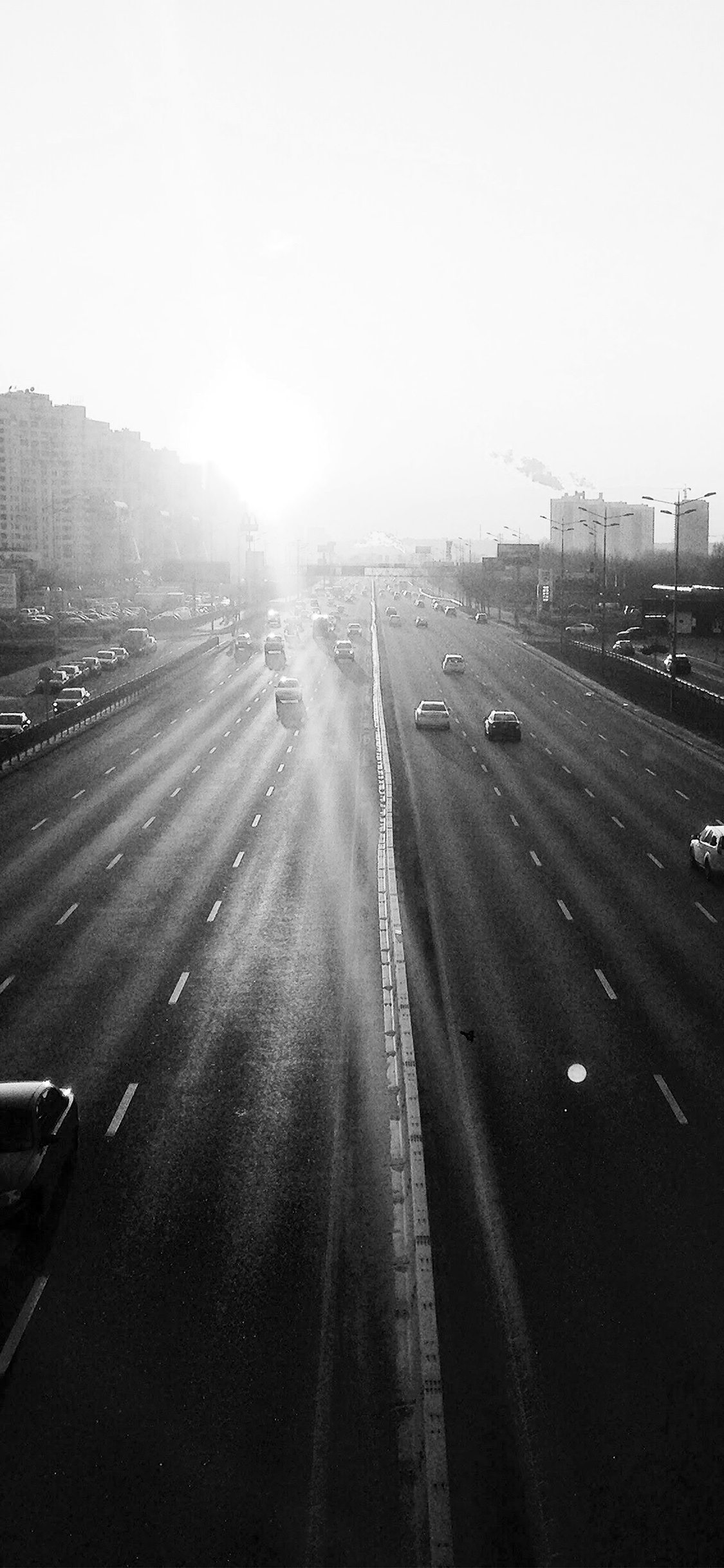 iPhoneXpapers.com-Apple-iPhone-wallpaper-nb63-city-sunset-road-car-red-dark-bw