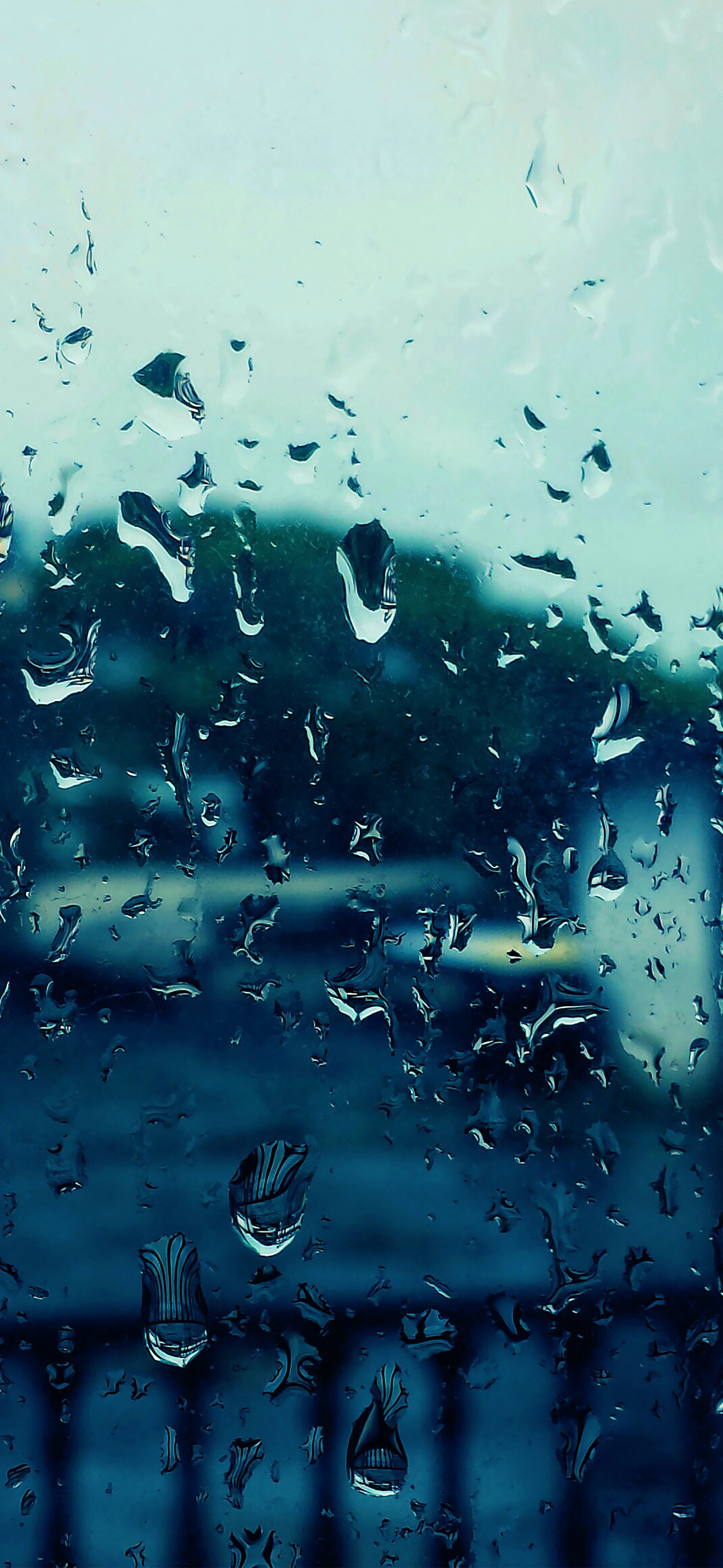 Nb71 Rain Bokeh Window Drops Nature Wallpaper