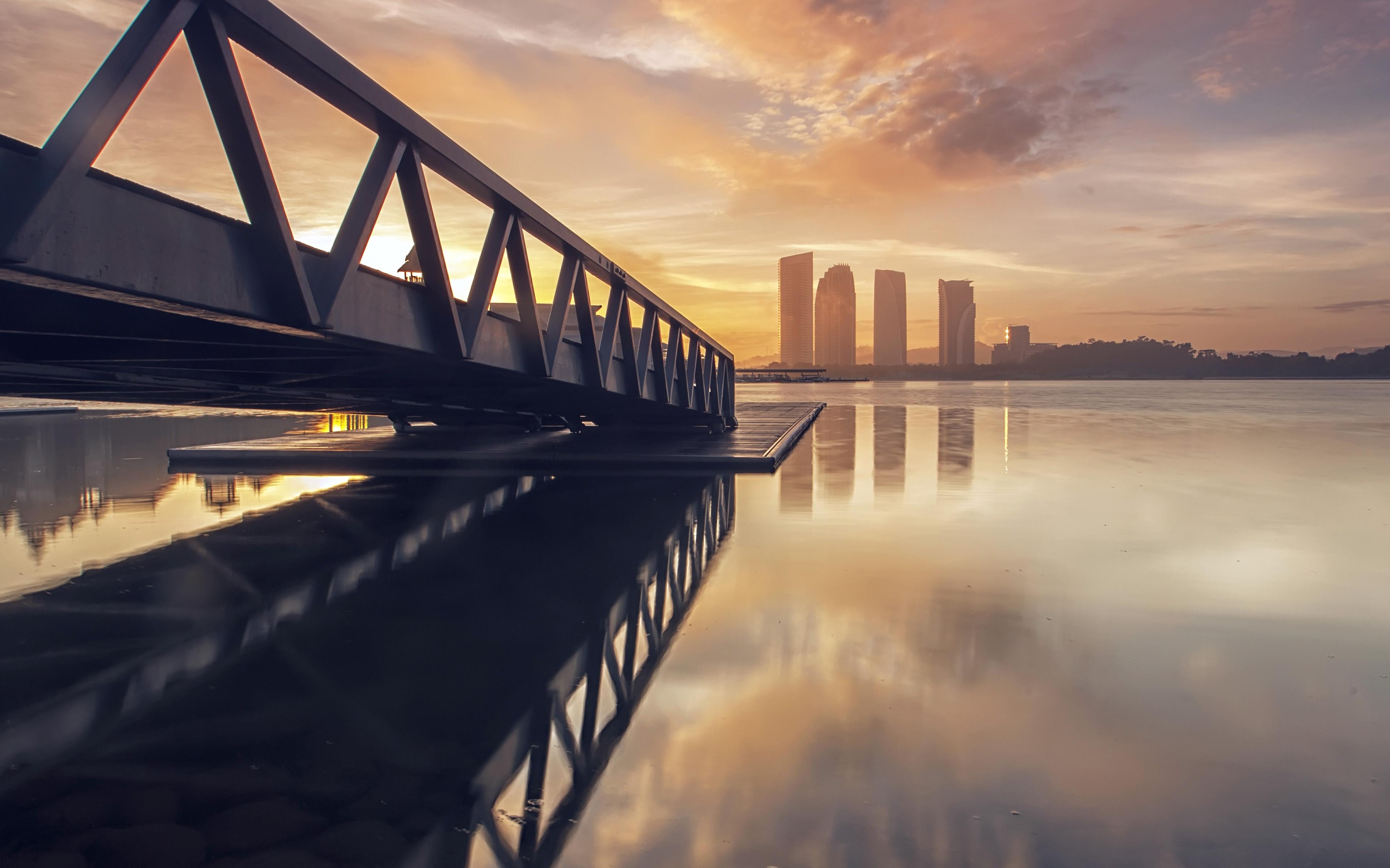 Nb98 City Night Success 3million River Wallpaper