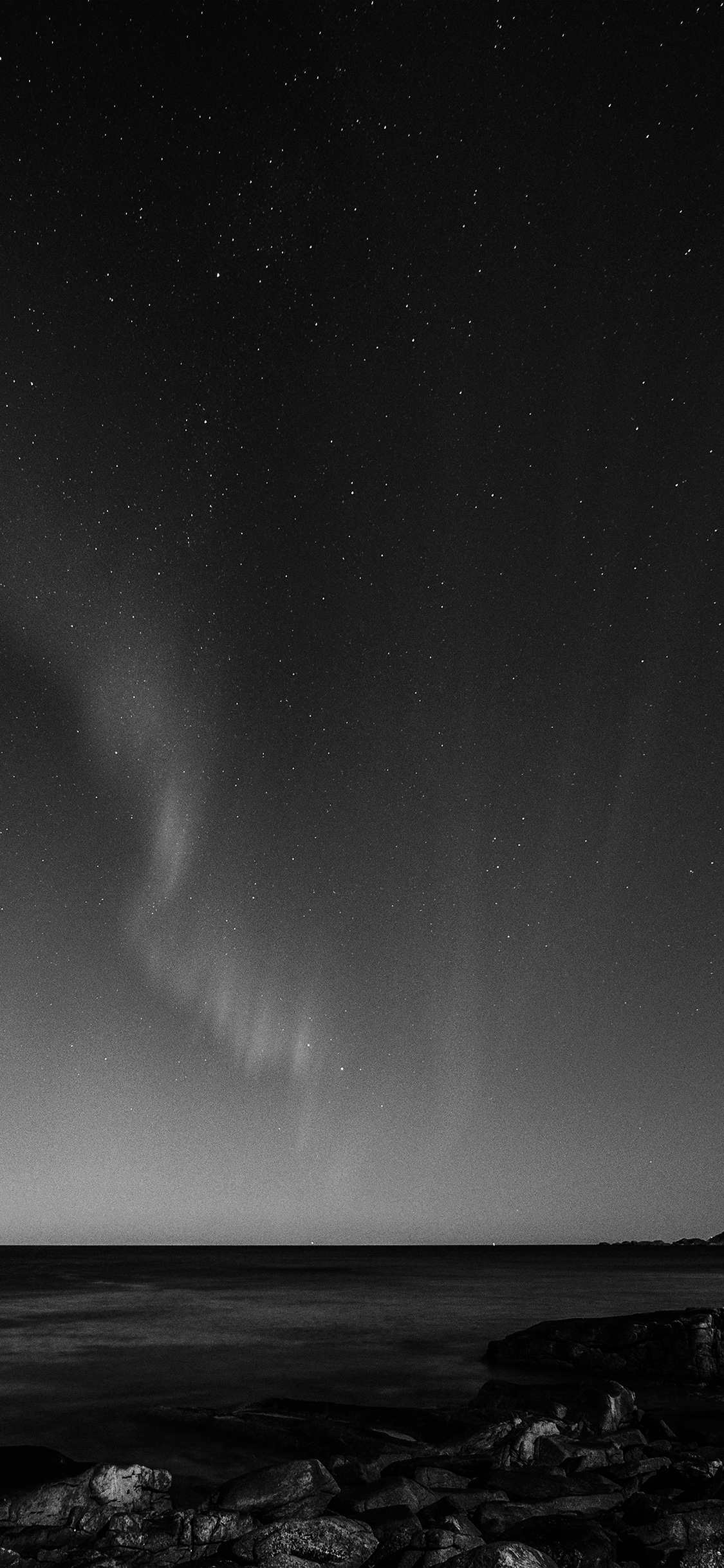 iPhoneXpapers.com-Apple-iPhone-wallpaper-nc56-aurora-night-sky-star-beautiful-space-sea-dark-bw