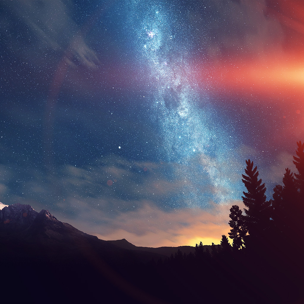 wallpaper-nd08-wonderful-tonight-space-star-sunset-mountain-flare-wallpaper