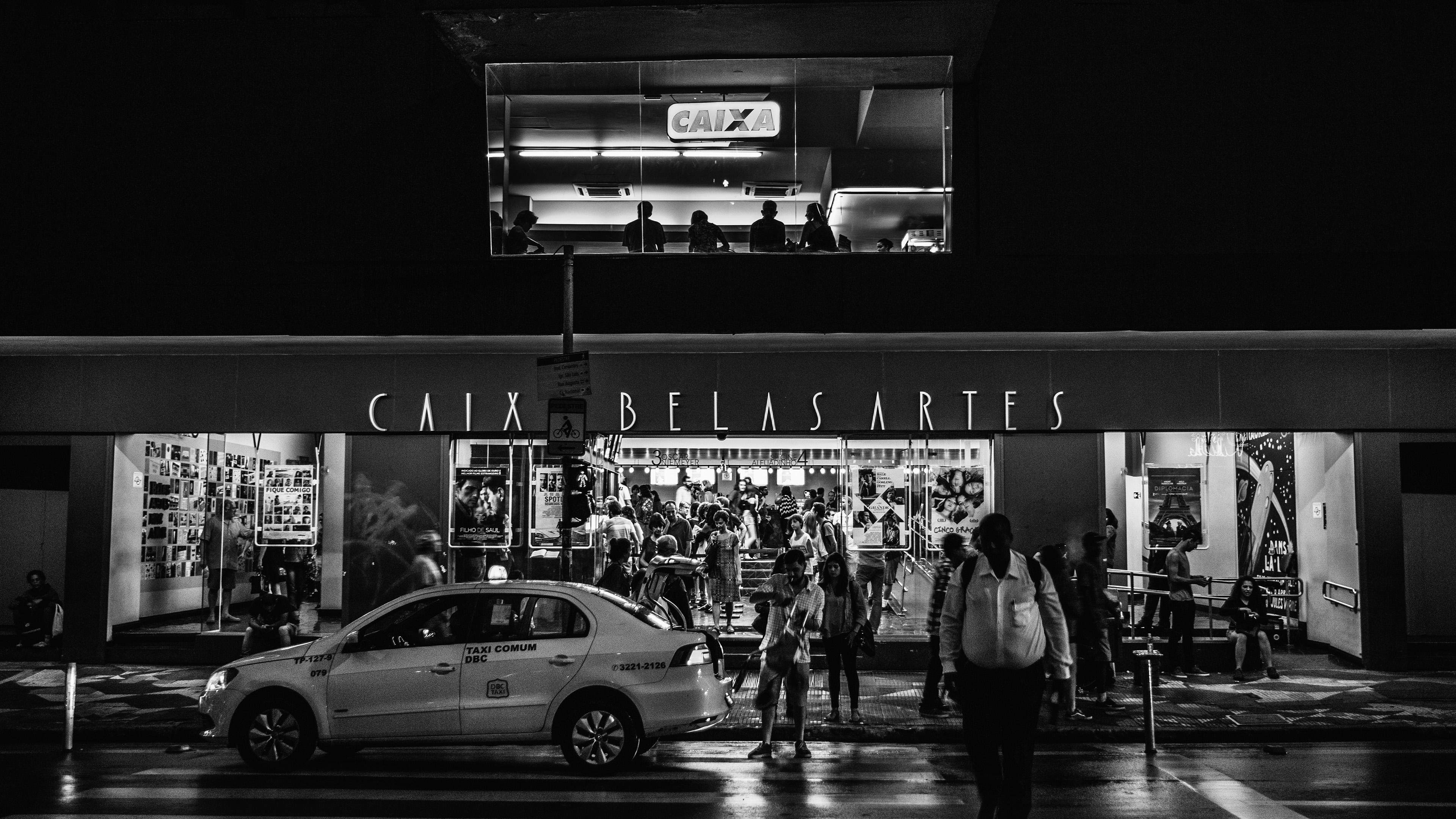Nd18 Caix Dark Bw City Street Night Wallpaper