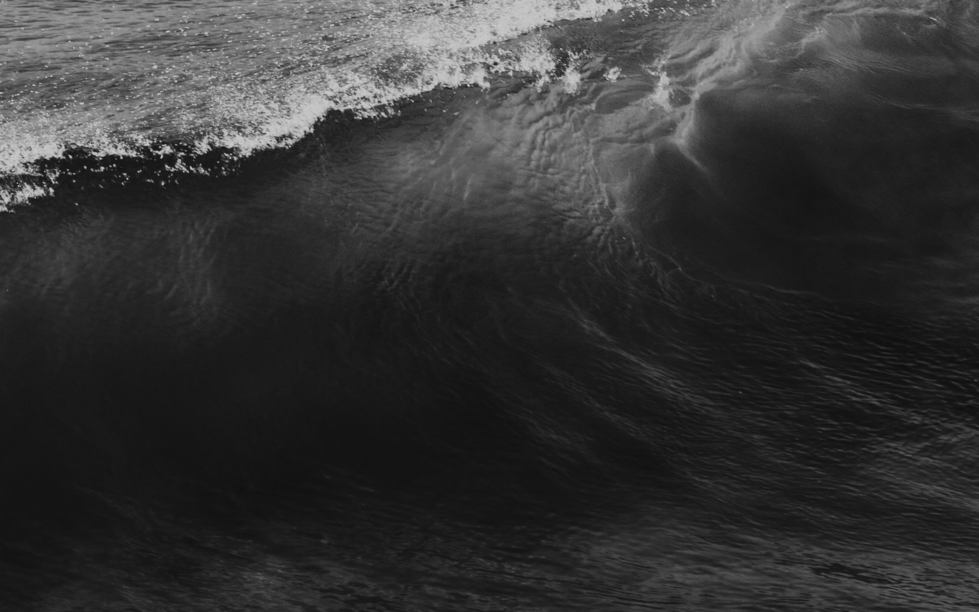 Nd26 Wave Sea Ocean Summer Dark Bw Wallpaper