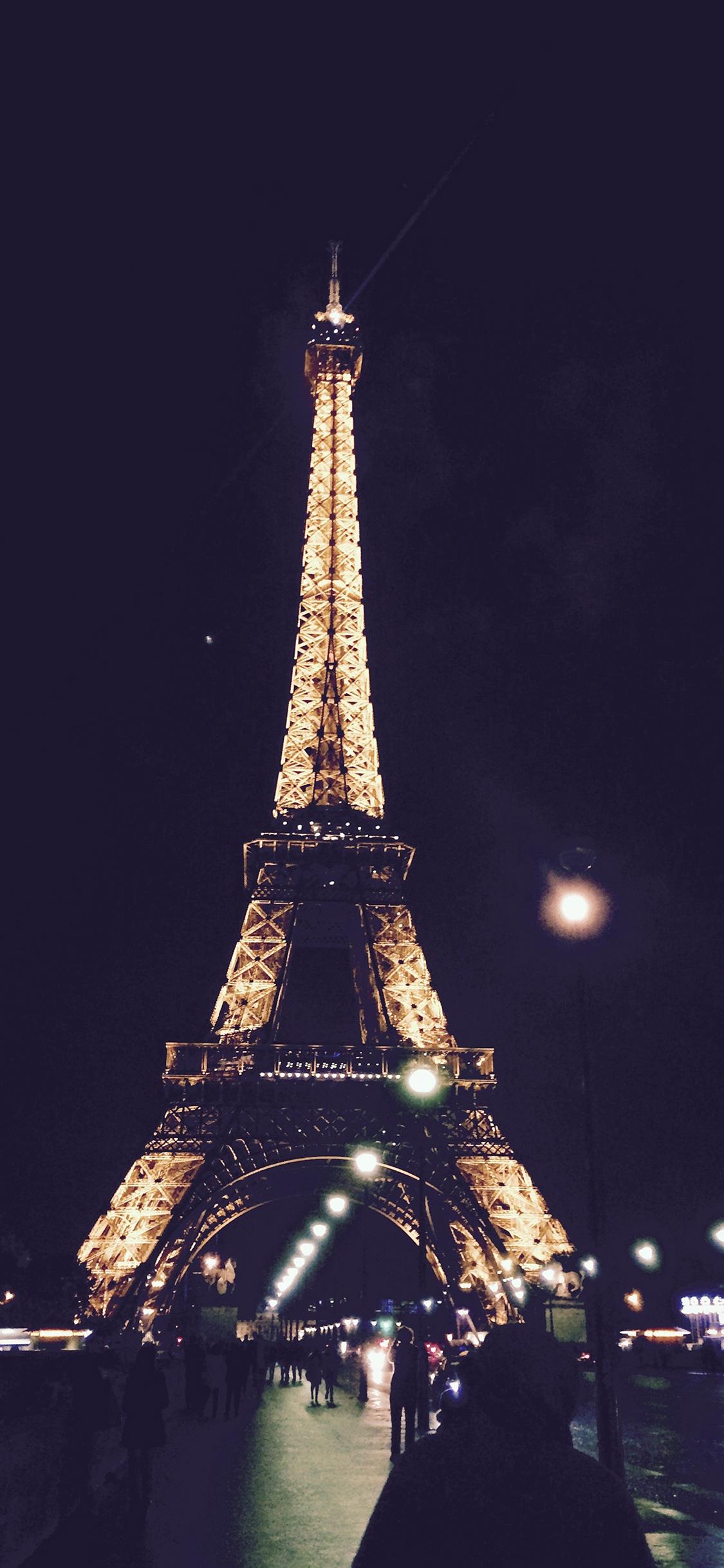 Nd27 Paris City Art Night France Eiffel Tower Wallpaper