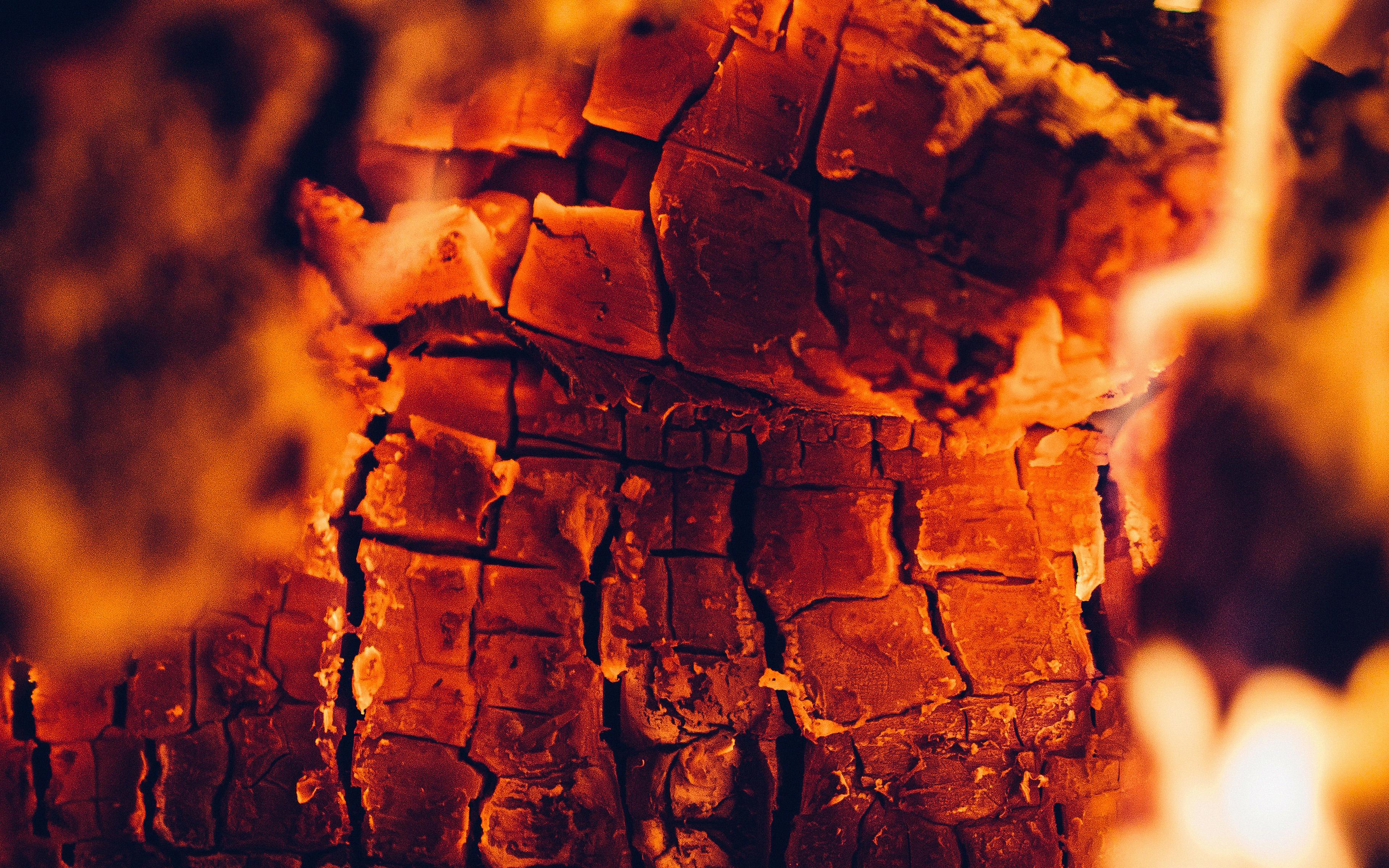 Papersco Desktop Wallpaper Nd61 Fire Wood Red Dark Camping