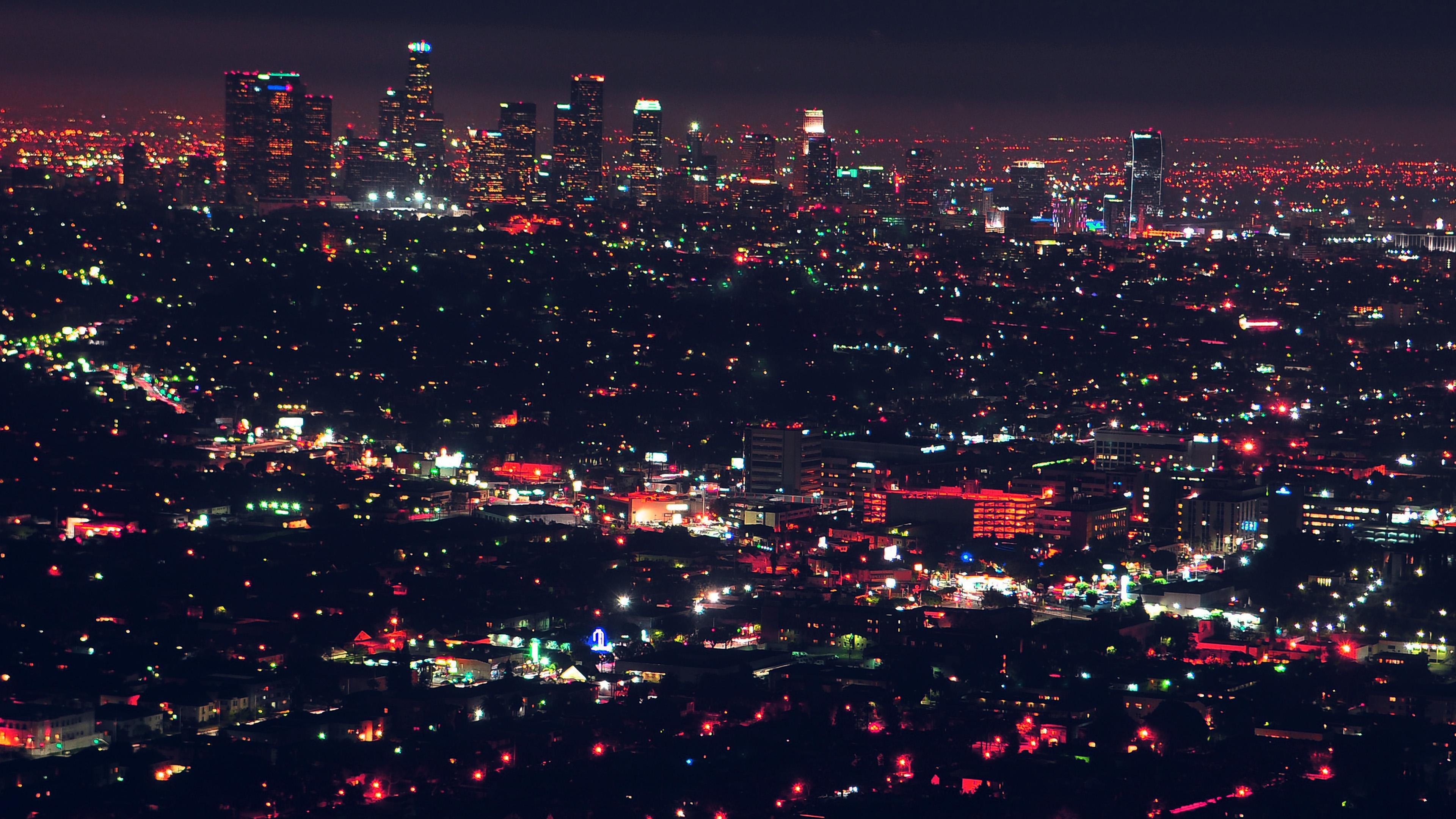 Wallpaper for desktop laptop nd64 city view night light red - Night light city wallpaper ...