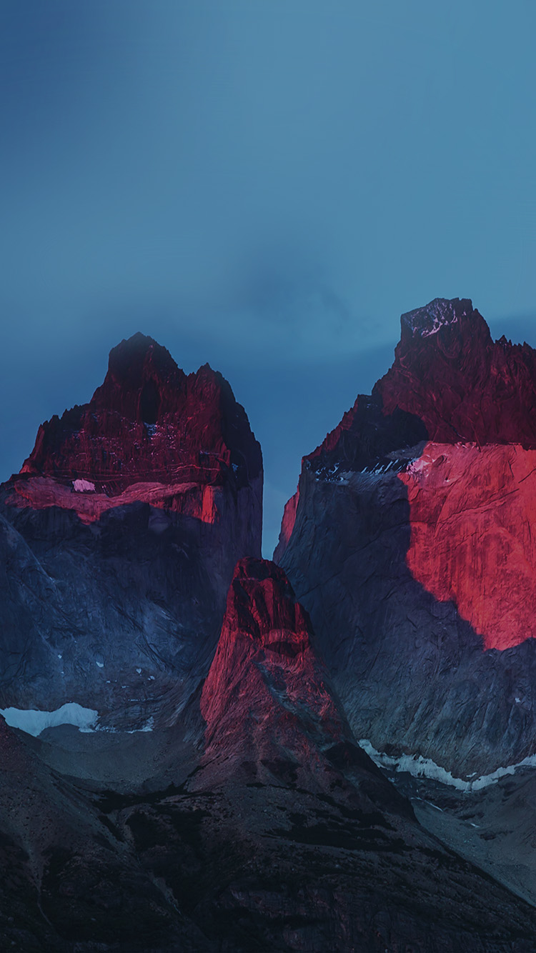 papers.co nd73 yosemite mountain red blue nature cold apple 33 iphone6 wallpaper