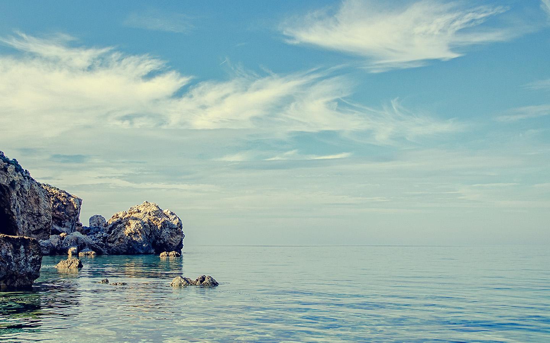 Ne34 Summer Sea Ocean Vacation Sky Blue Wallpaper