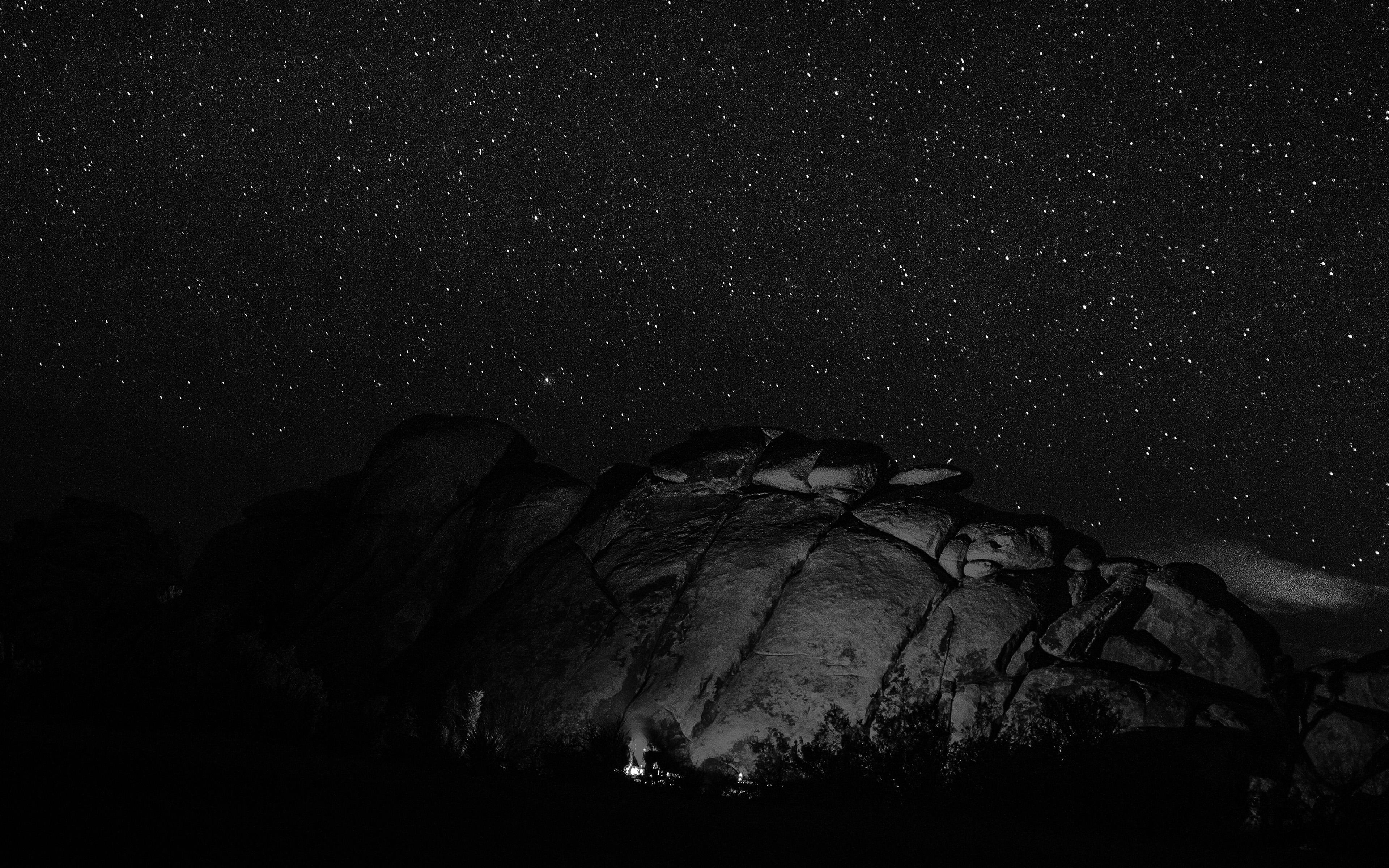 Ne36 Mystery Rock Night Sky Star Nature Dark Wallpaper