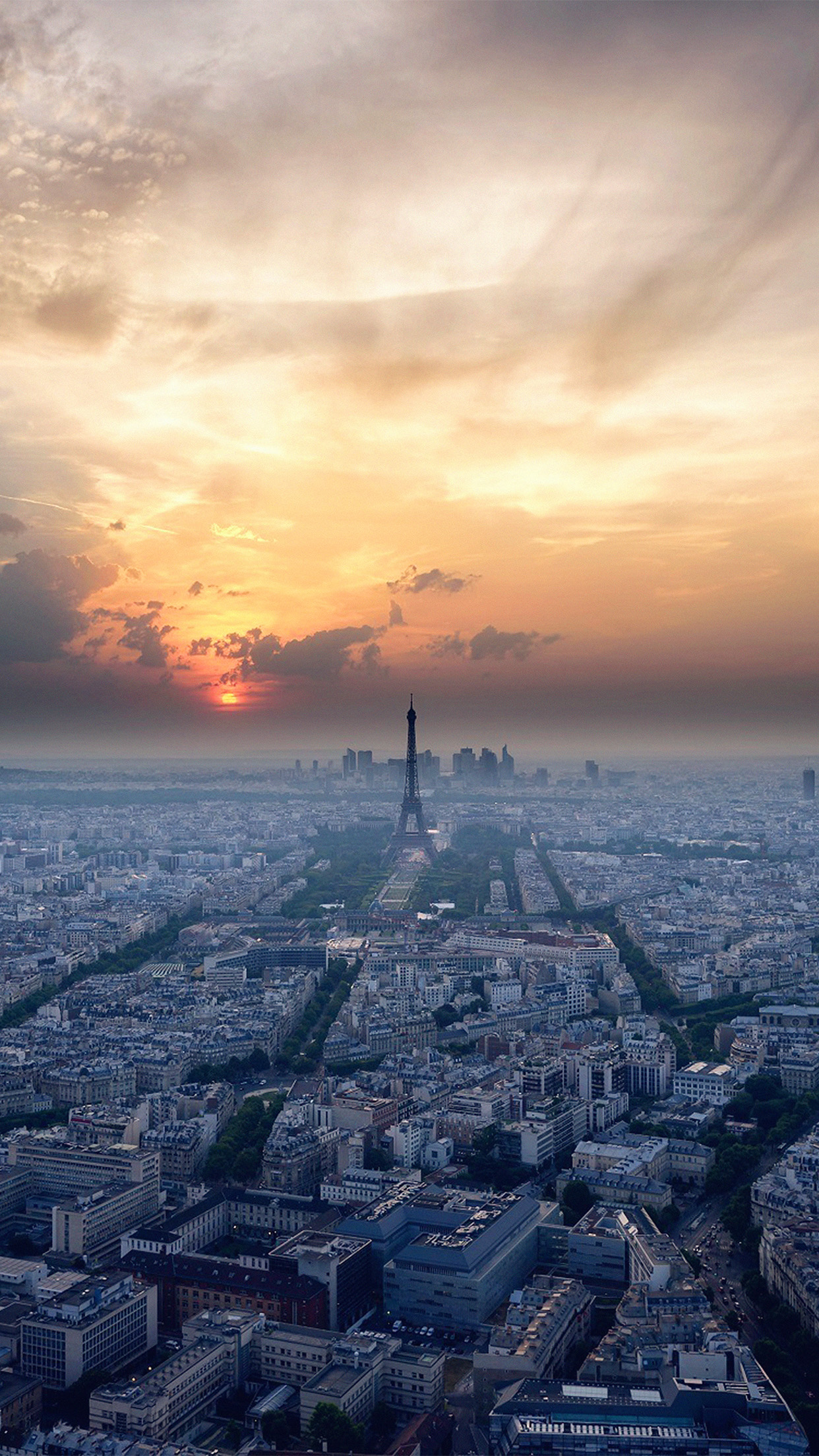 Iphonexpapers Com Iphone X Wallpaper Ne41 Eiffel Tower Sky View Paris France Vacation Sunset
