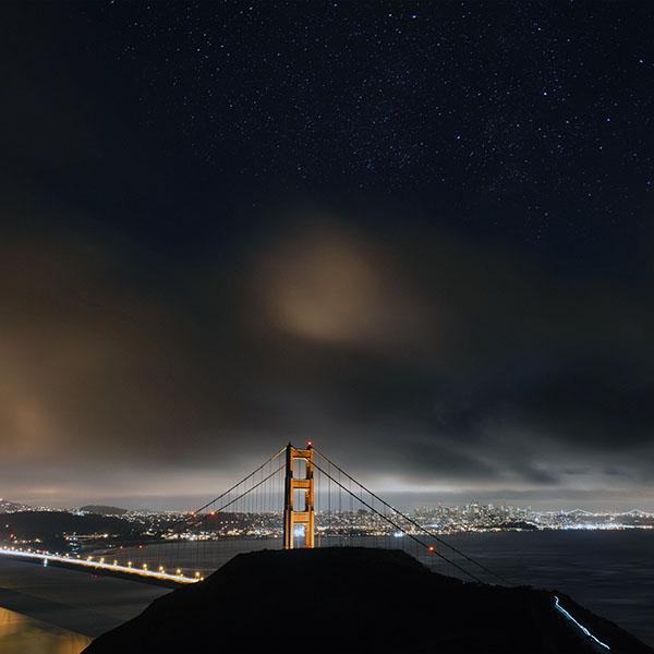 iPapers.co-Apple-iPhone-iPad-Macbook-iMac-wallpaper-ne60-golden-bridge-sky-star-milkyroad-river-city-night-dark-town-wallpaper