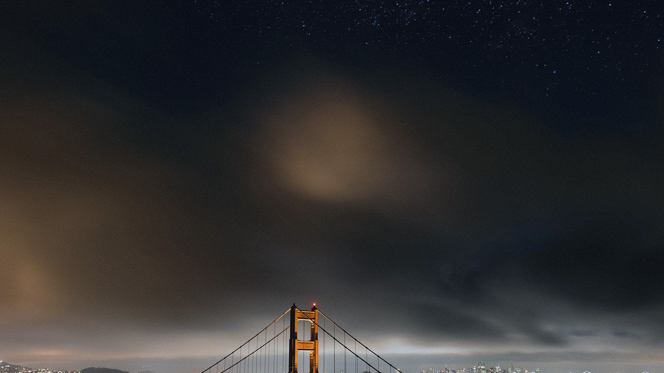desktop-wallpaper-laptop-mac-macbook-air-ne60-golden-bridge-sky-star-milkyroad-river-city-night-dark-town-wallpaper