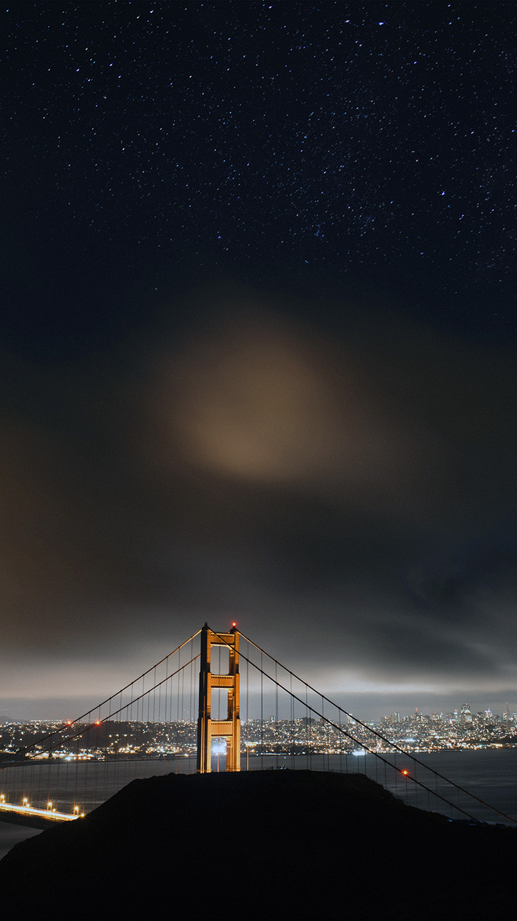 iPhone6papers.co-Apple-iPhone-6-iphone6-plus-wallpaper-ne60-golden-bridge-sky-star-milkyroad-river-city-night-dark-town