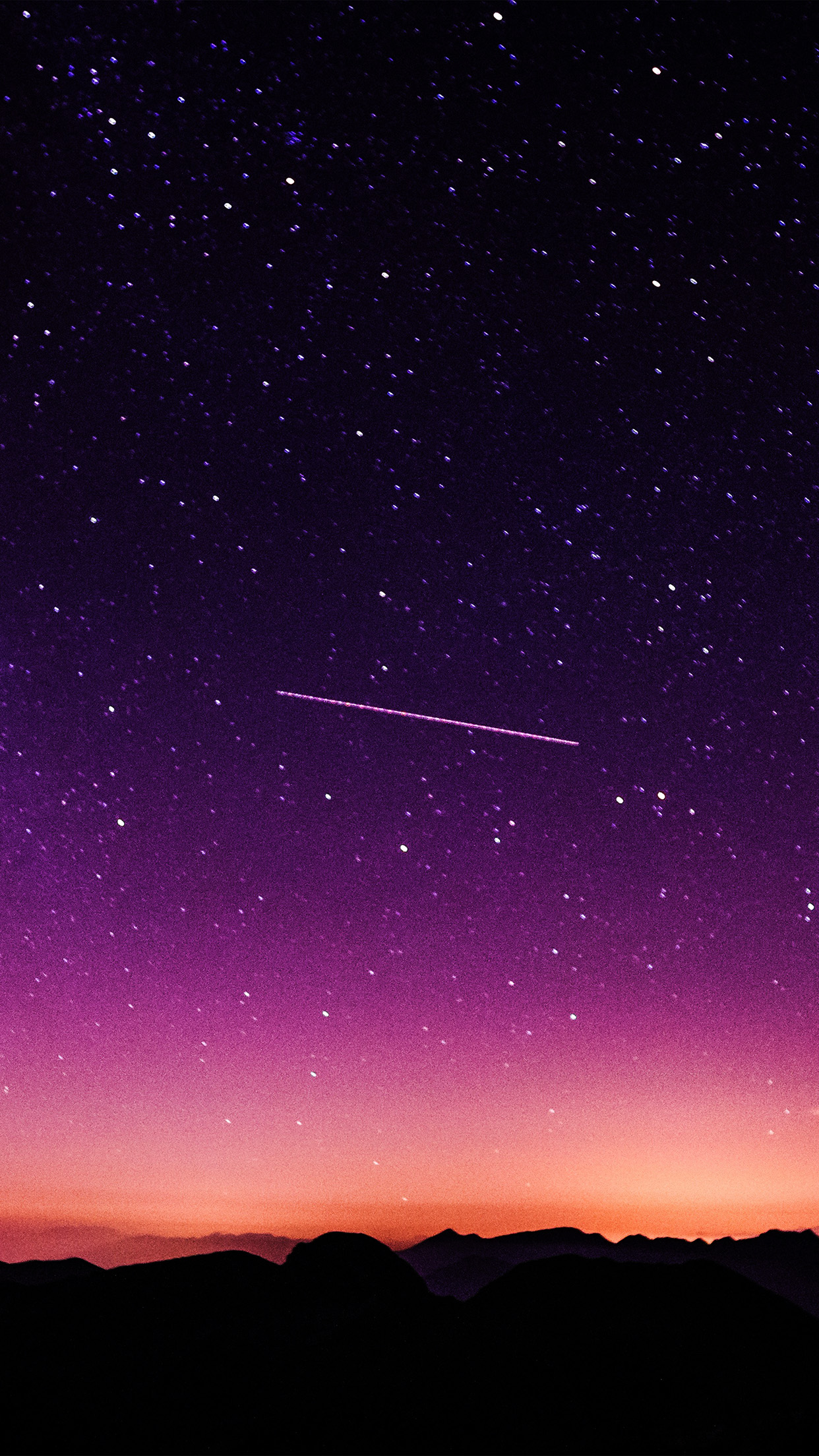 papers.co ne63 star galaxy night sky mountain purple red nature space 34 iphone6 plus wallpaper
