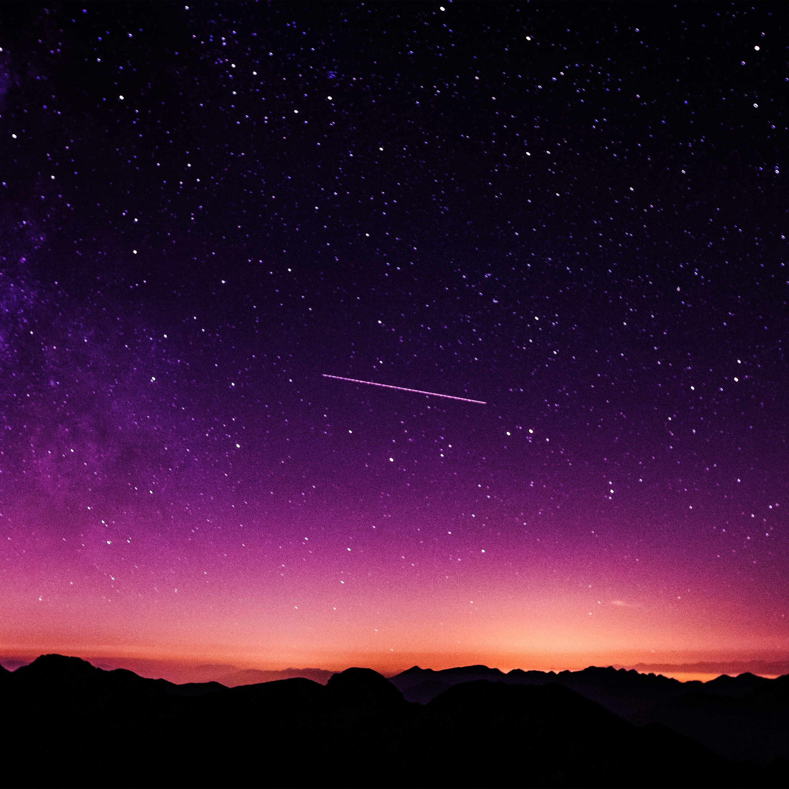 ne63 star galaxy night sky mountain purple red nature space