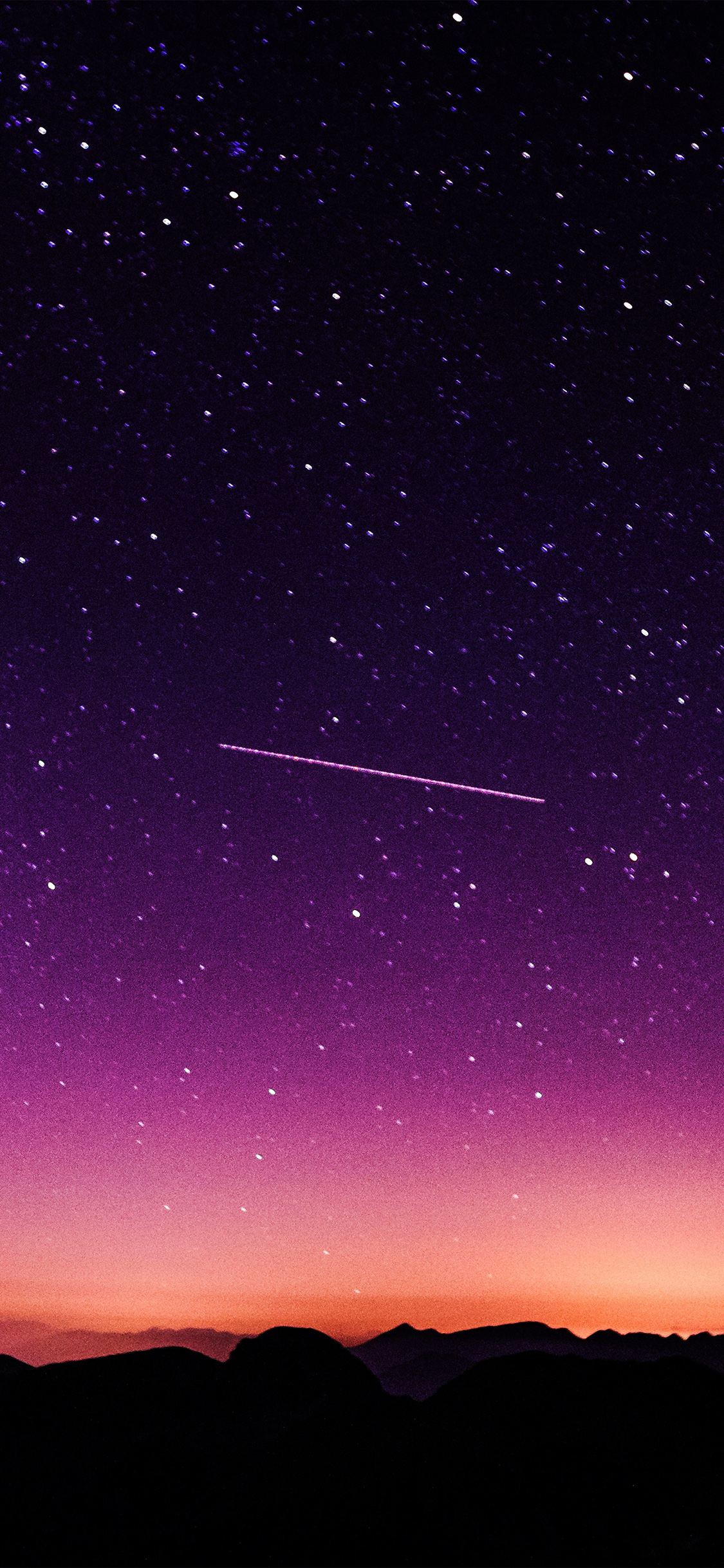 papers.co ne63 star galaxy night sky mountain purple red nature space 41 iphone wallpaper