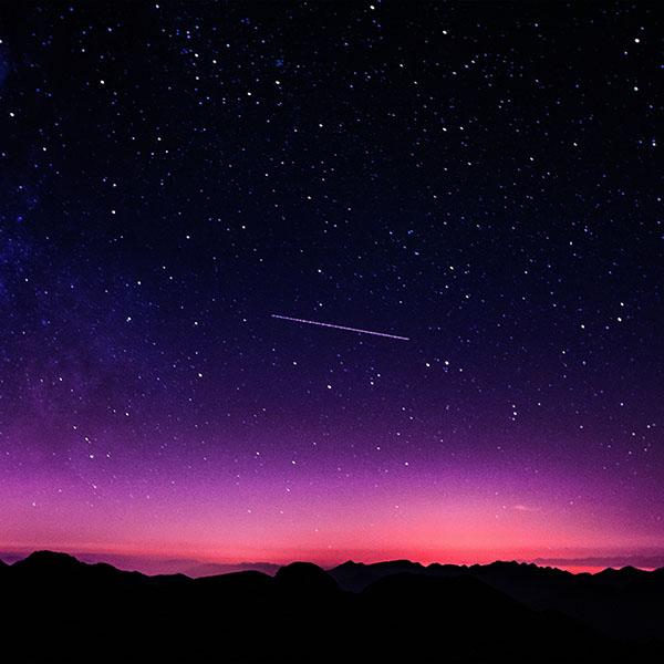 Iphone 6 Wallpaper Ne64 Star Galaxy Night Sky Mountain Purple Pink Nature Space
