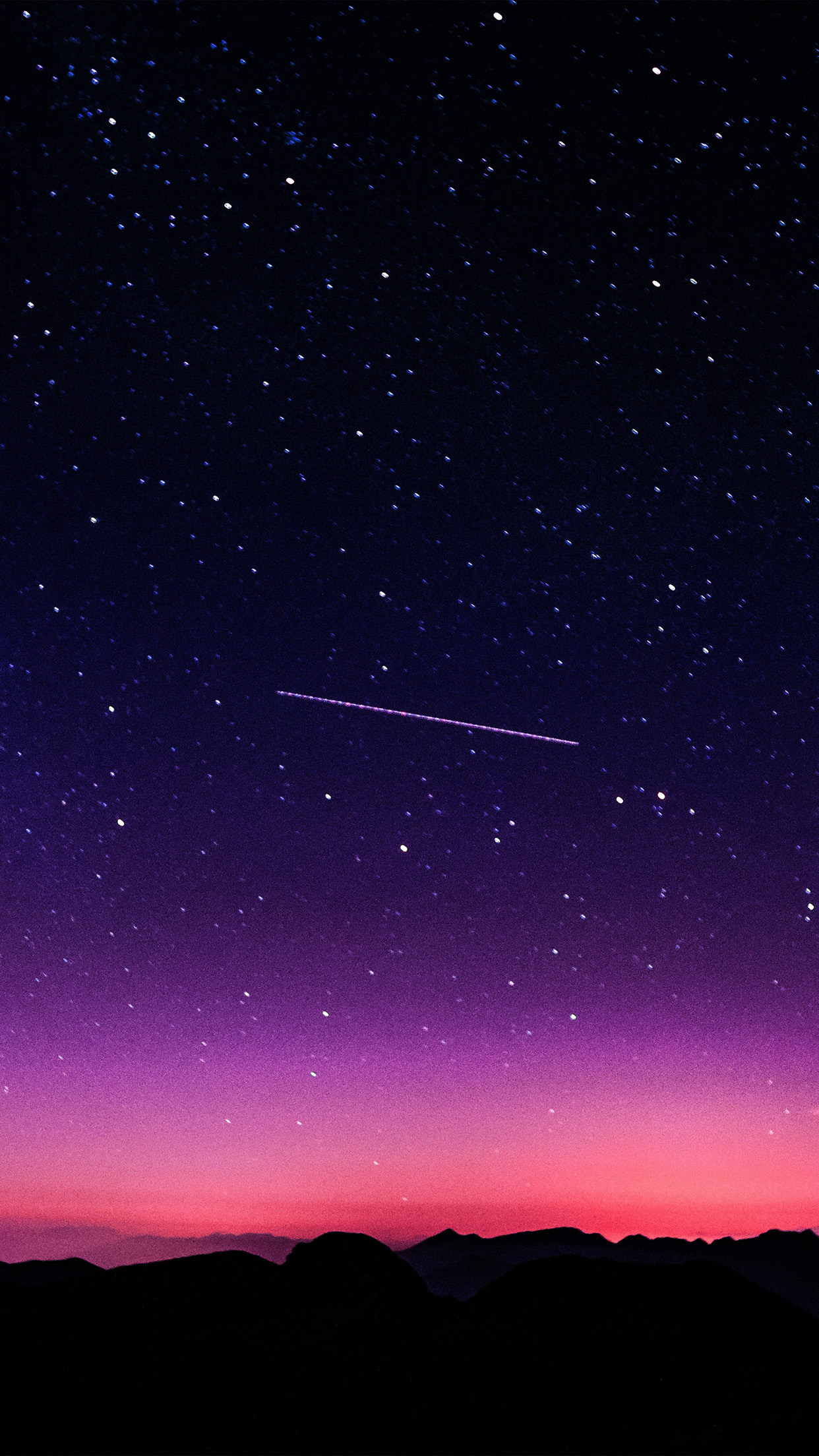 papers.co ne64 star galaxy night sky mountain purple pink nature space 34 iphone6 plus wallpaper