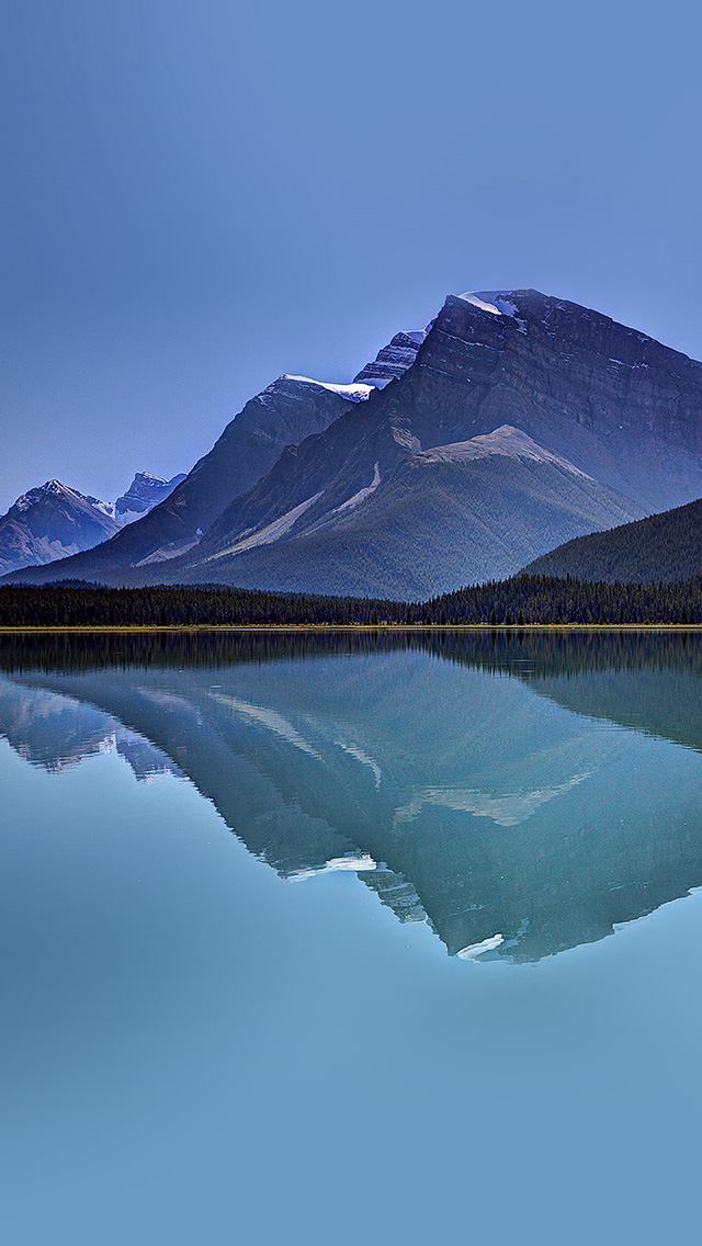 freeios8.com-iphone-4-5-6-plus-ipad-ios8-ne73-lake-mountain-reflection-nature-blue