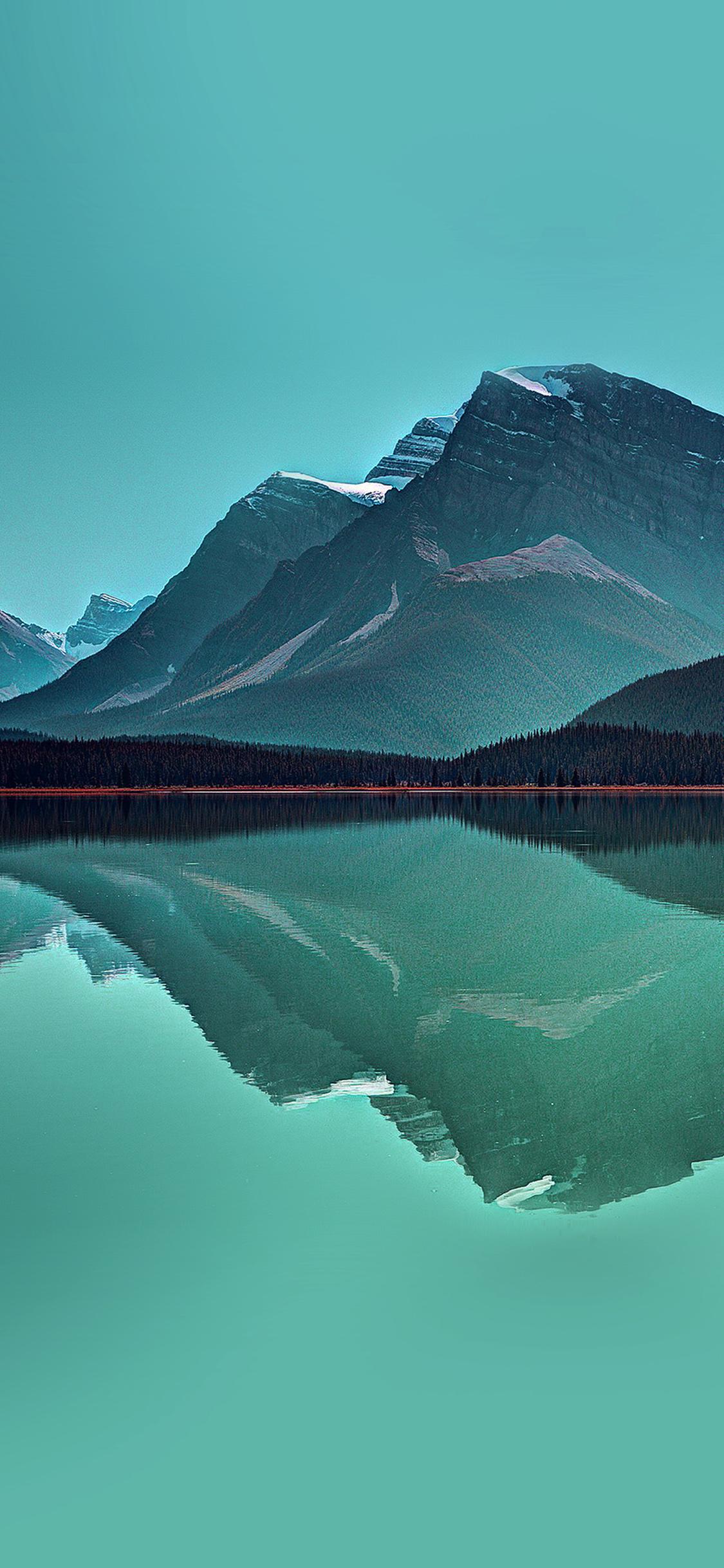 Iphonexpapers Com Iphone X Wallpaper Ne74 Lake Mountain Reflection Nature Green