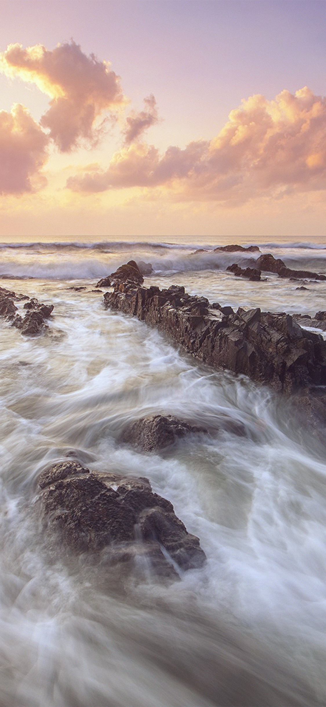 Nf13 Sea Ocean Water Sunset Nature Flare Wallpaper