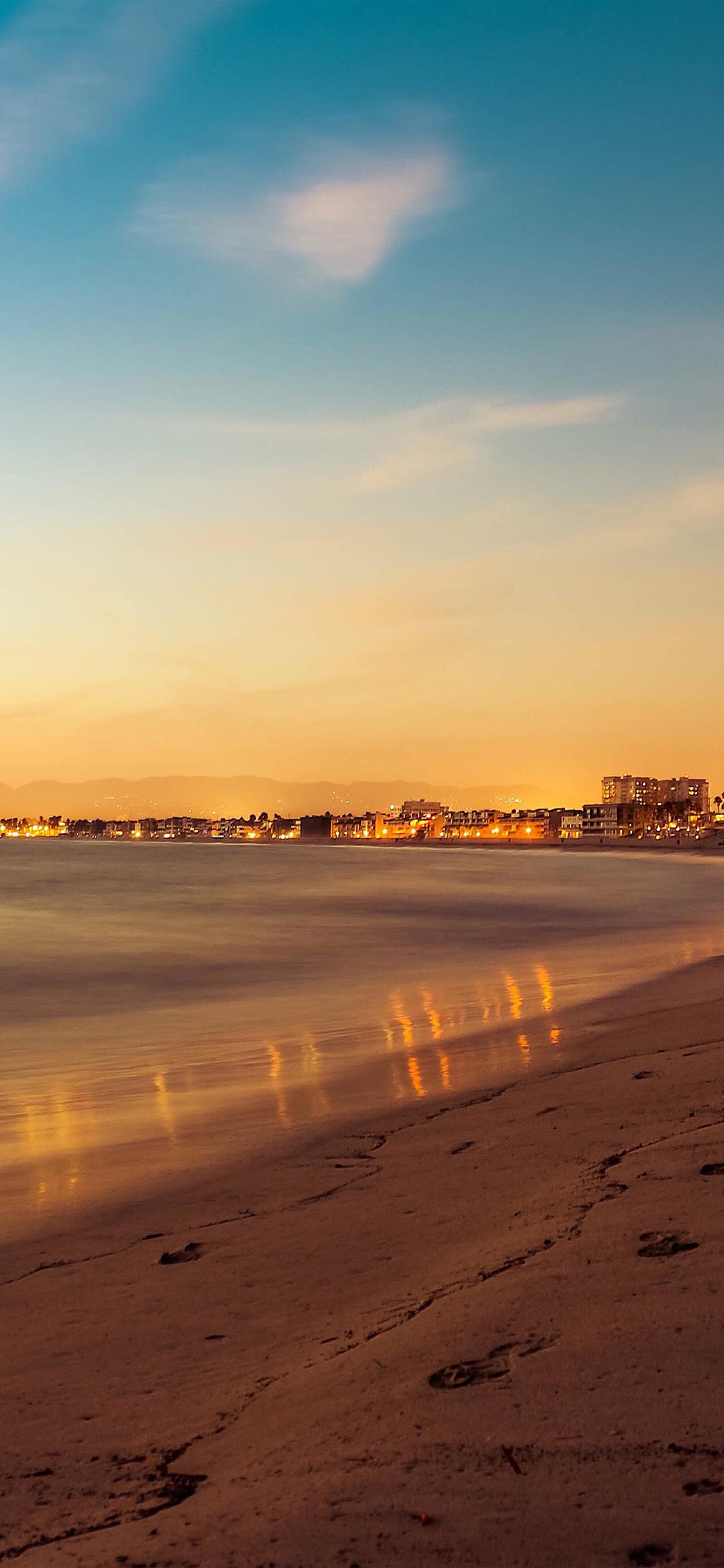 iPhoneXpapers.com-Apple-iPhone-wallpaper-nf38-beach-summer-night-sunset-orange-sea-nature