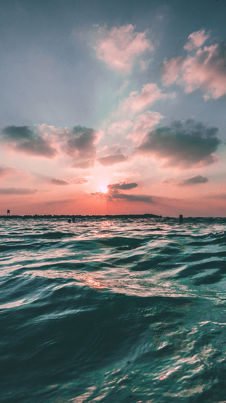 iPhone6papers.co-Apple-iPhone-6-iphone6-plus-wallpaper-nf43-sunset-sea-sky-ocean-summer-green-water-nature