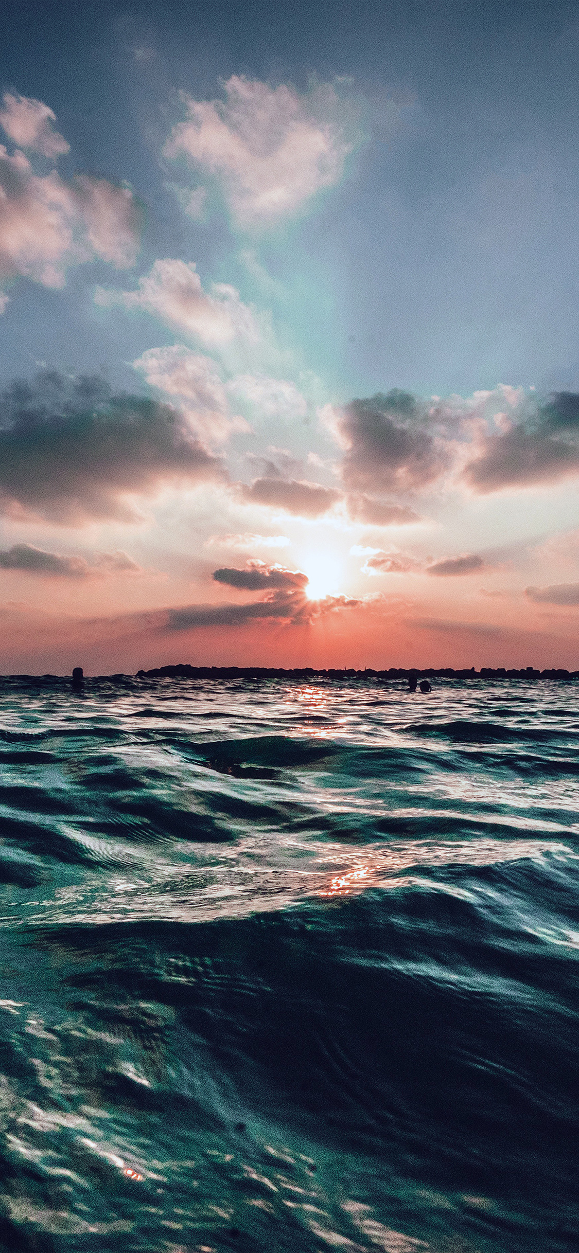Iphonexpapers Com Iphone X Wallpaper Nf44 Sunset Sea Sky Ocean