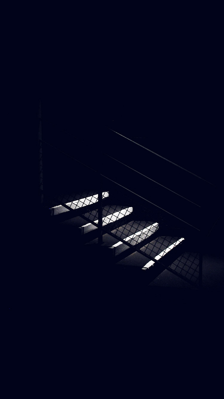iPhonepapers.com-Apple-iPhone-wallpaper-nf69-dark-stairs-minimal-simple-city-bw-blue