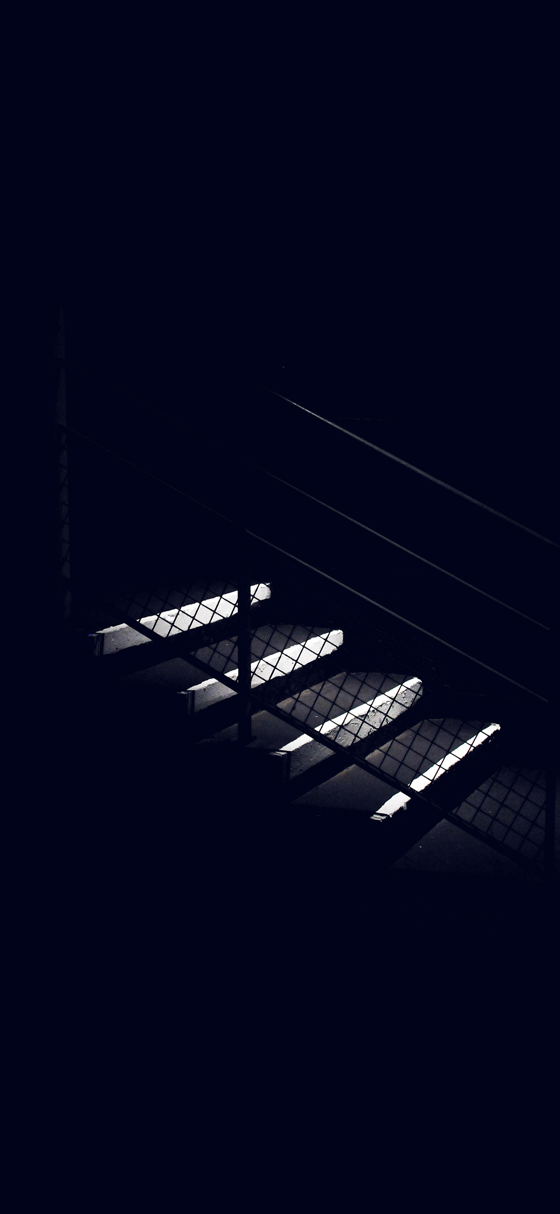 iPhonexpapers.com-Apple-iPhone-wallpaper-nf69-dark-stairs-minimal-simple-city-bw-blue
