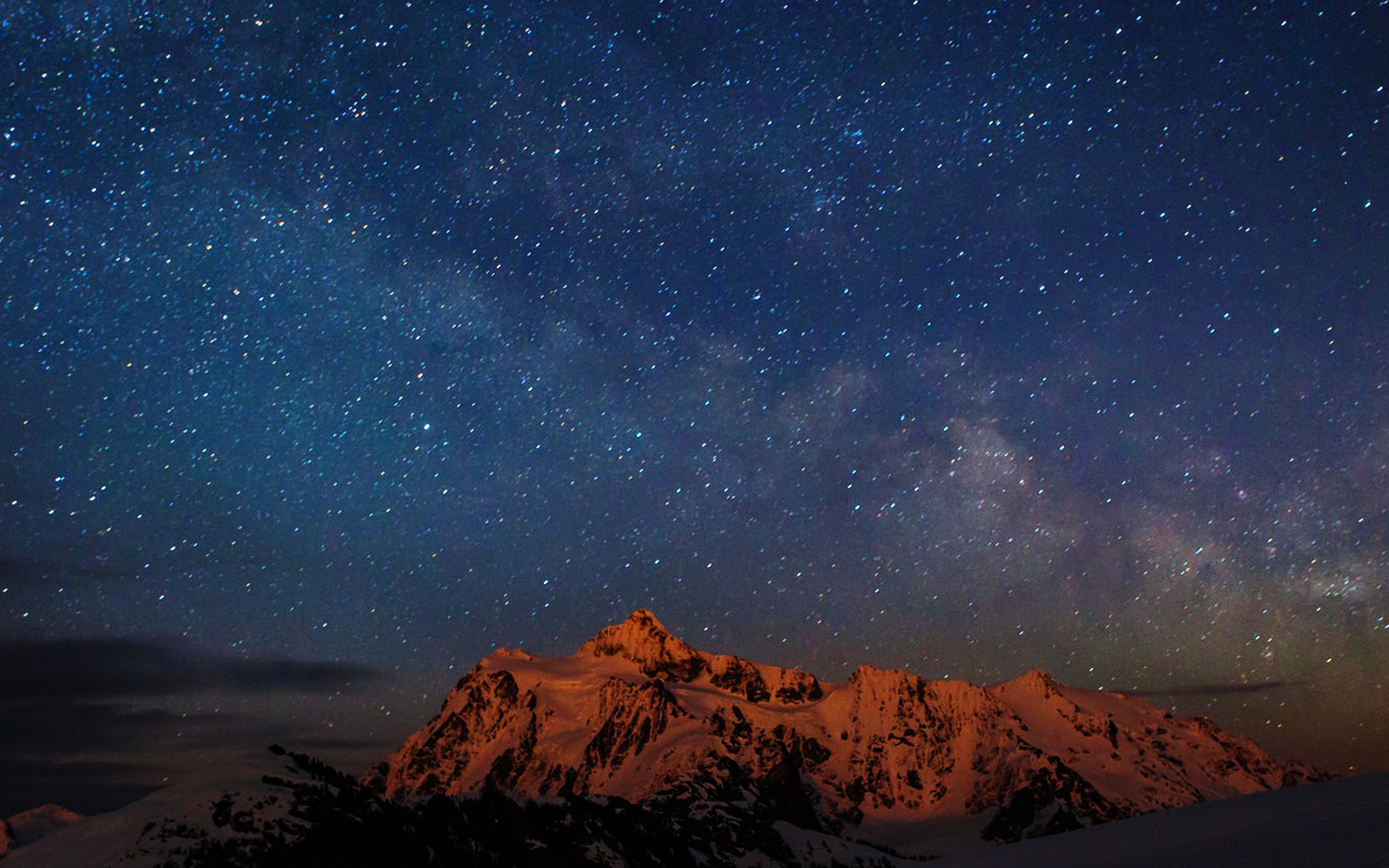 Iphone Android Desktop Backgrounds: Nf70-starry-night-sky-mountain-nature-wallpaper