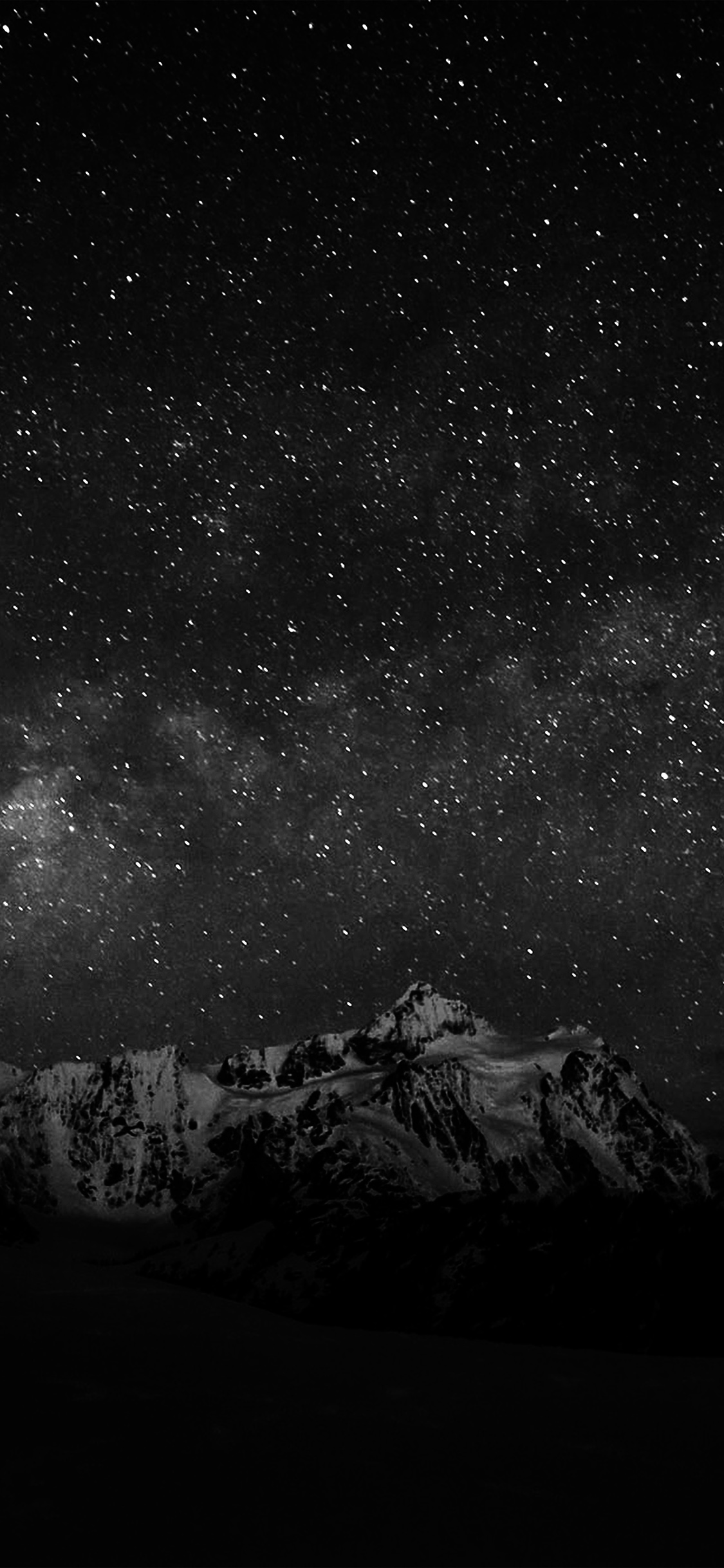 iPhoneXpapers.com-Apple-iPhone-wallpaper-nf71-starry-night-sky-mountain-nature-bw-dark