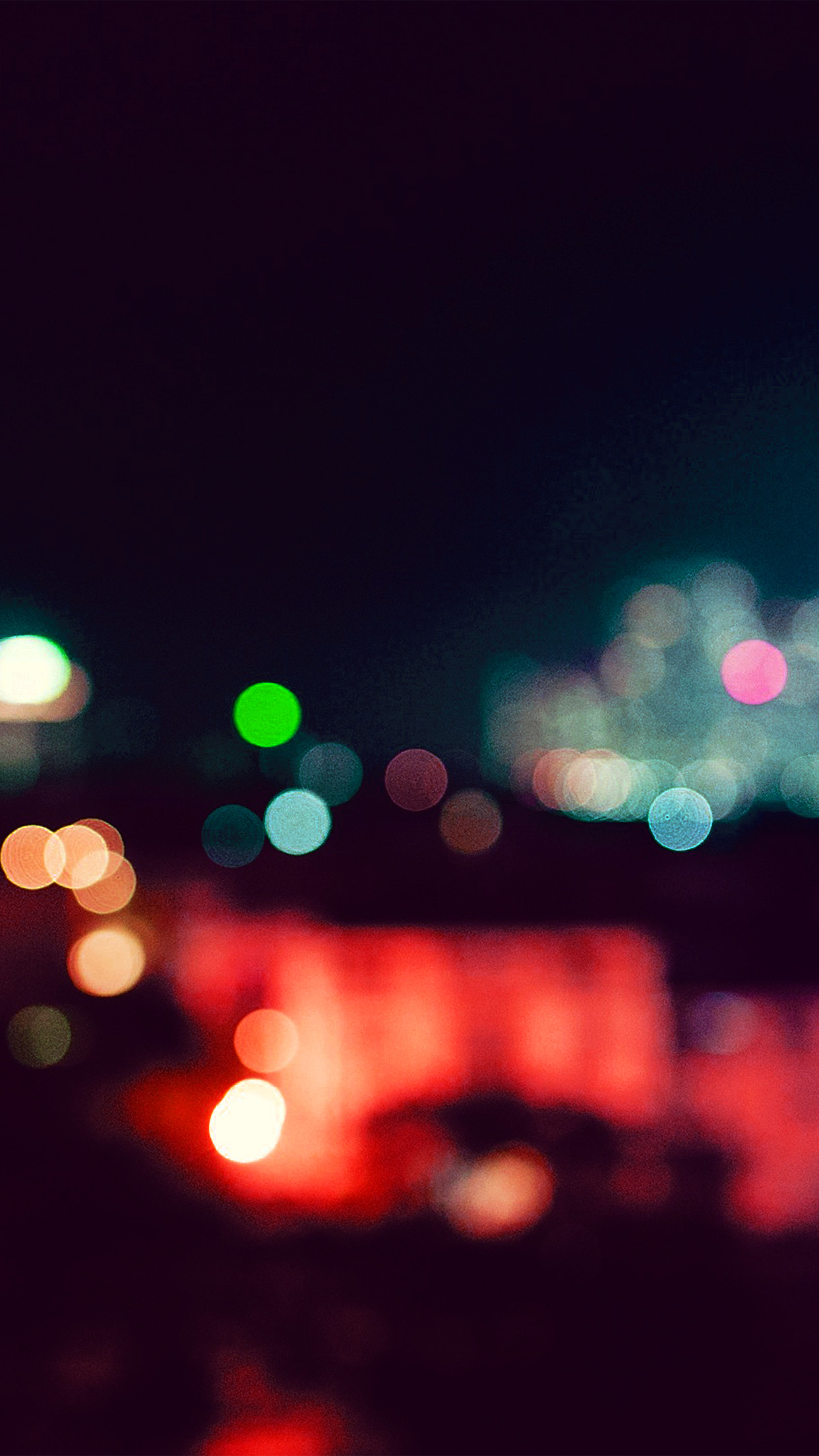 Papers Co Iphone Wallpaper Nf78 City Night Bokeh Blue Red Romantic Dark