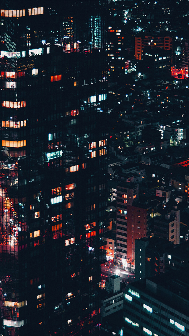 freeios8.com-iphone-4-5-6-plus-ipad-ios8-nf86-city-night-lights-building-pattern-red