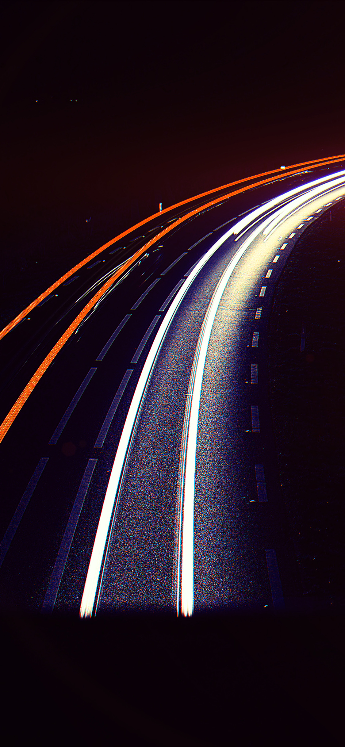 iPhonexpapers.com-Apple-iPhone-wallpaper-nf96-road-night-car-street-light-blue-dark-flare
