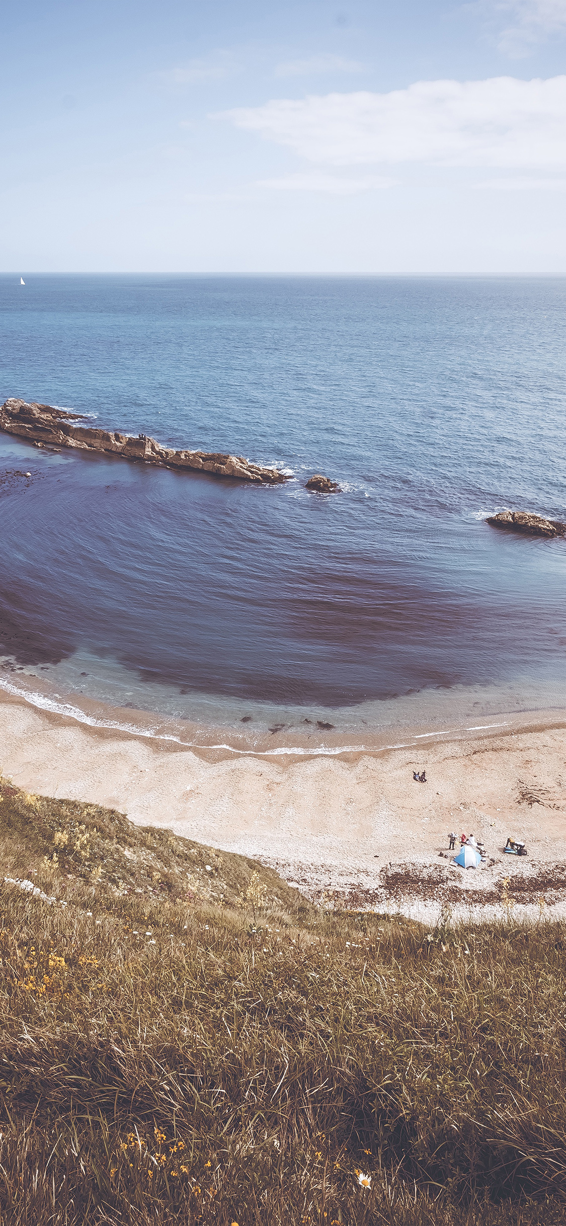 Iphonexpapers Com Iphone X Wallpaper Ng04 Nature Camping Sea Beach Ocean Rock Mountain