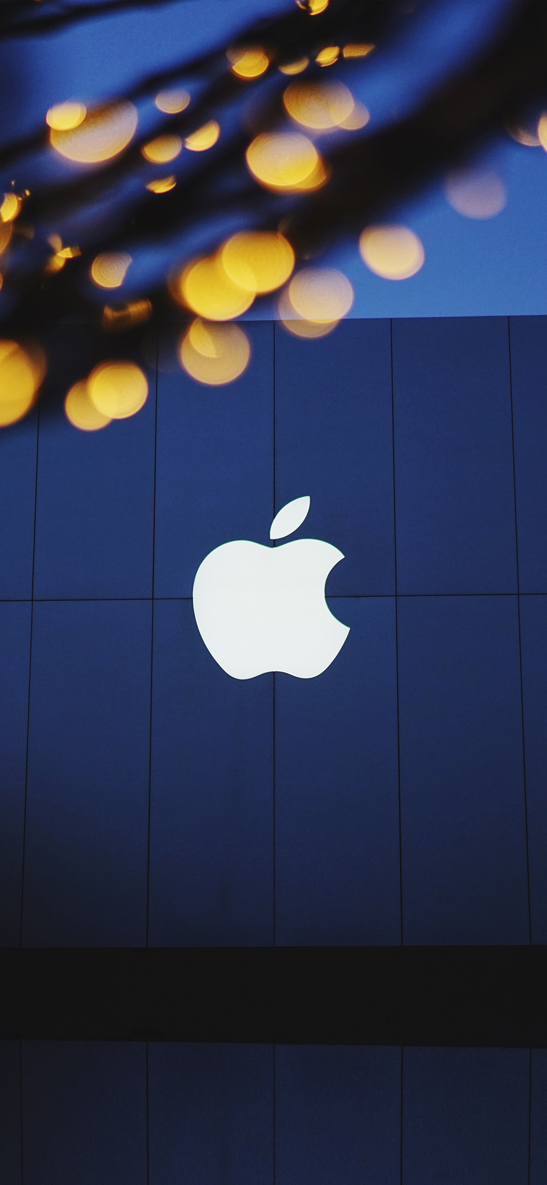 iphonexpapers | iphone x wallpaper | ng07-apple-logo-blue-dark