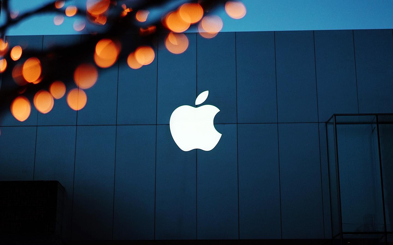 Ng08 Apple Logo Blue Orange Dark Wallpaper