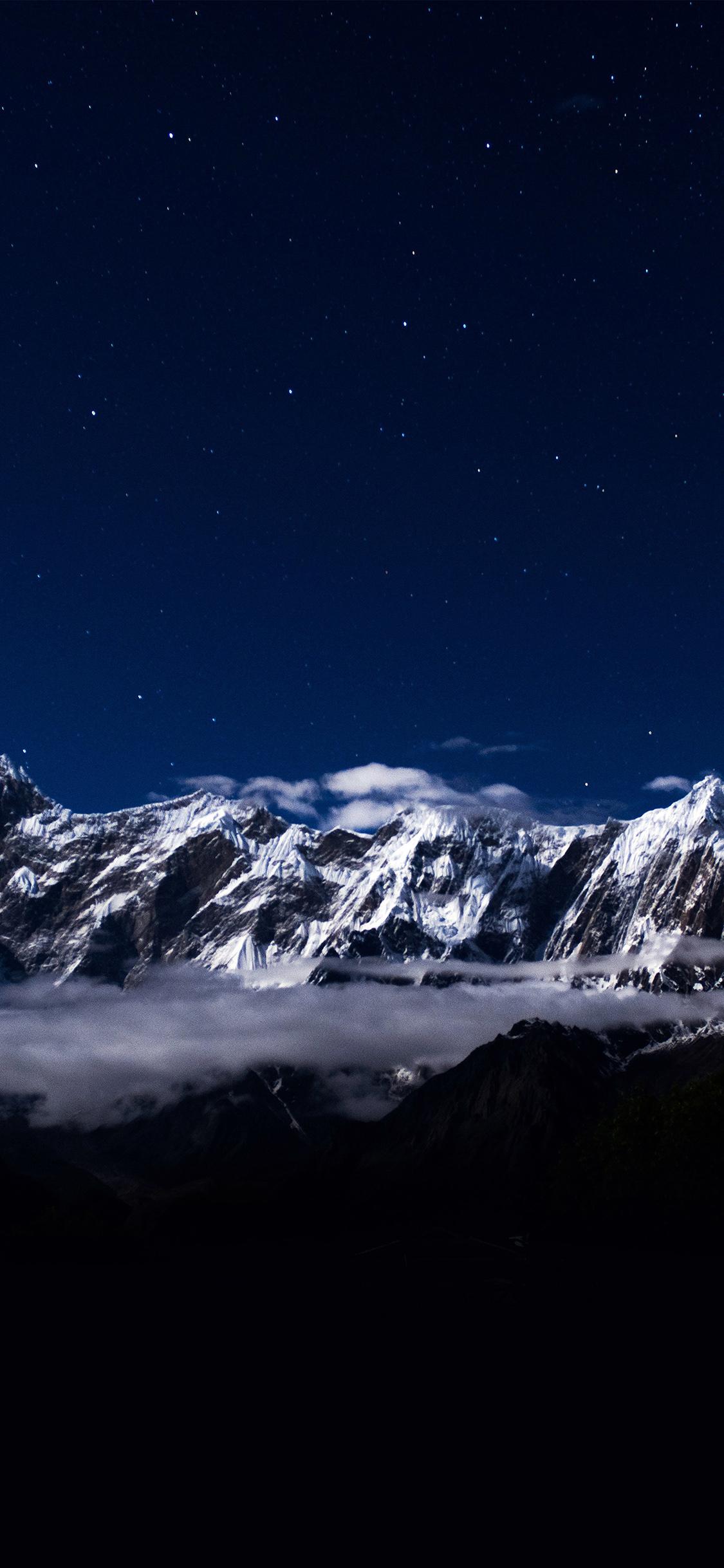 iPhoneXpapers.com-Apple-iPhone-wallpaper-ng41-mountain-snow-dark-blue-winter-sky-star