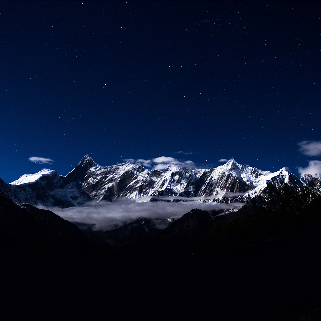 wallpaper-ng41-mountain-snow-dark-blue-winter-sky-star-wallpaper