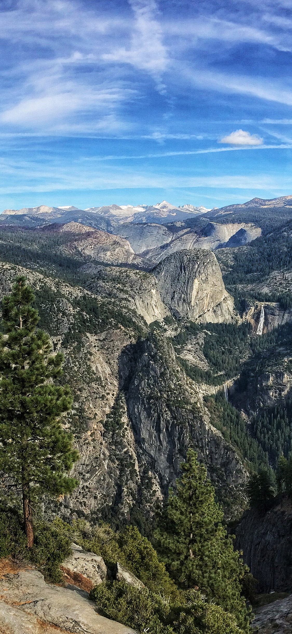 Iphonexpapers Com Iphone X Wallpaper Ng61 Summer Mountain Yosemite Nature Cloud Sky