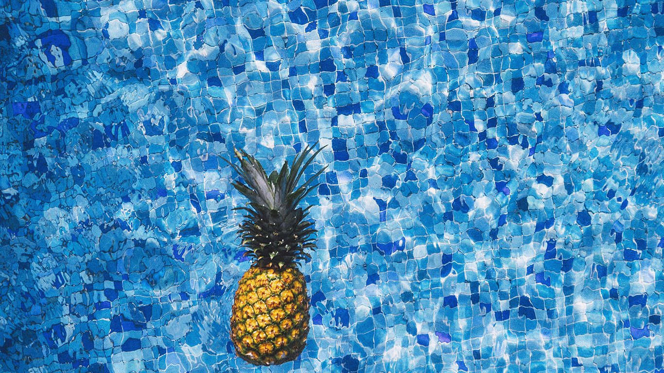 desktop-wallpaper-laptop-mac-macbook-air-nh20-sea-water-pineapple-swim-ripple-wave-blue-wallpaper