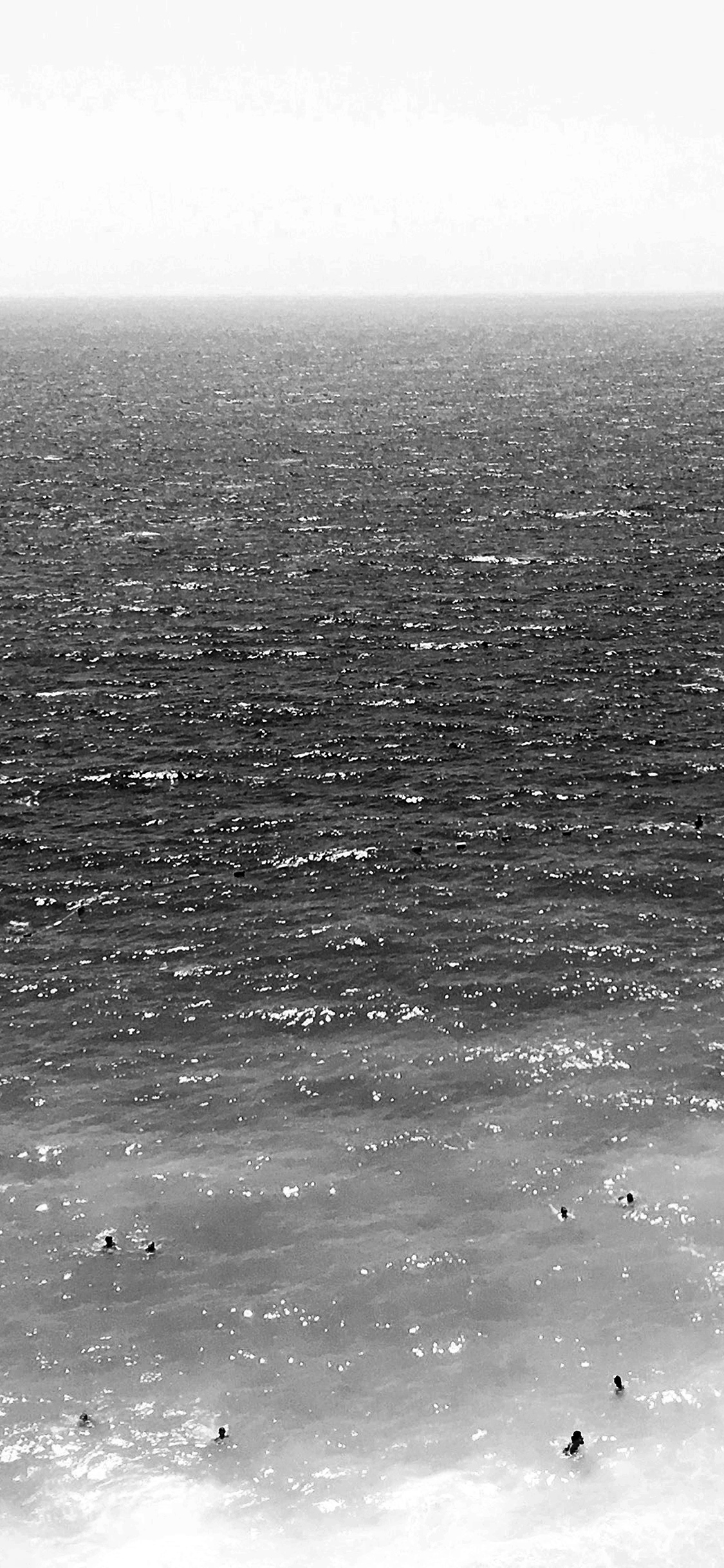 iPhoneXpapers.com-Apple-iPhone-wallpaper-nh25-vacation-beach-sea-bw-summer-water-swim-dark