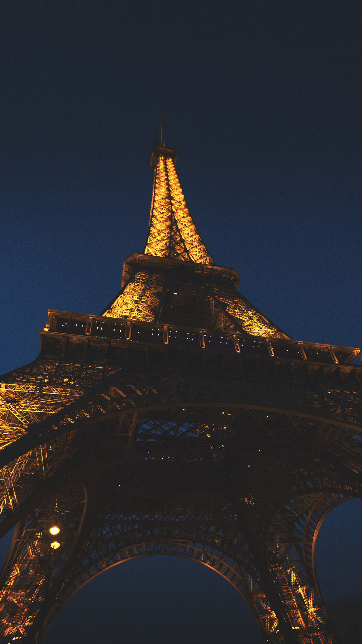 Nh37 Eiffel Tower Paris France Tour Vacation City Night Wallpaper