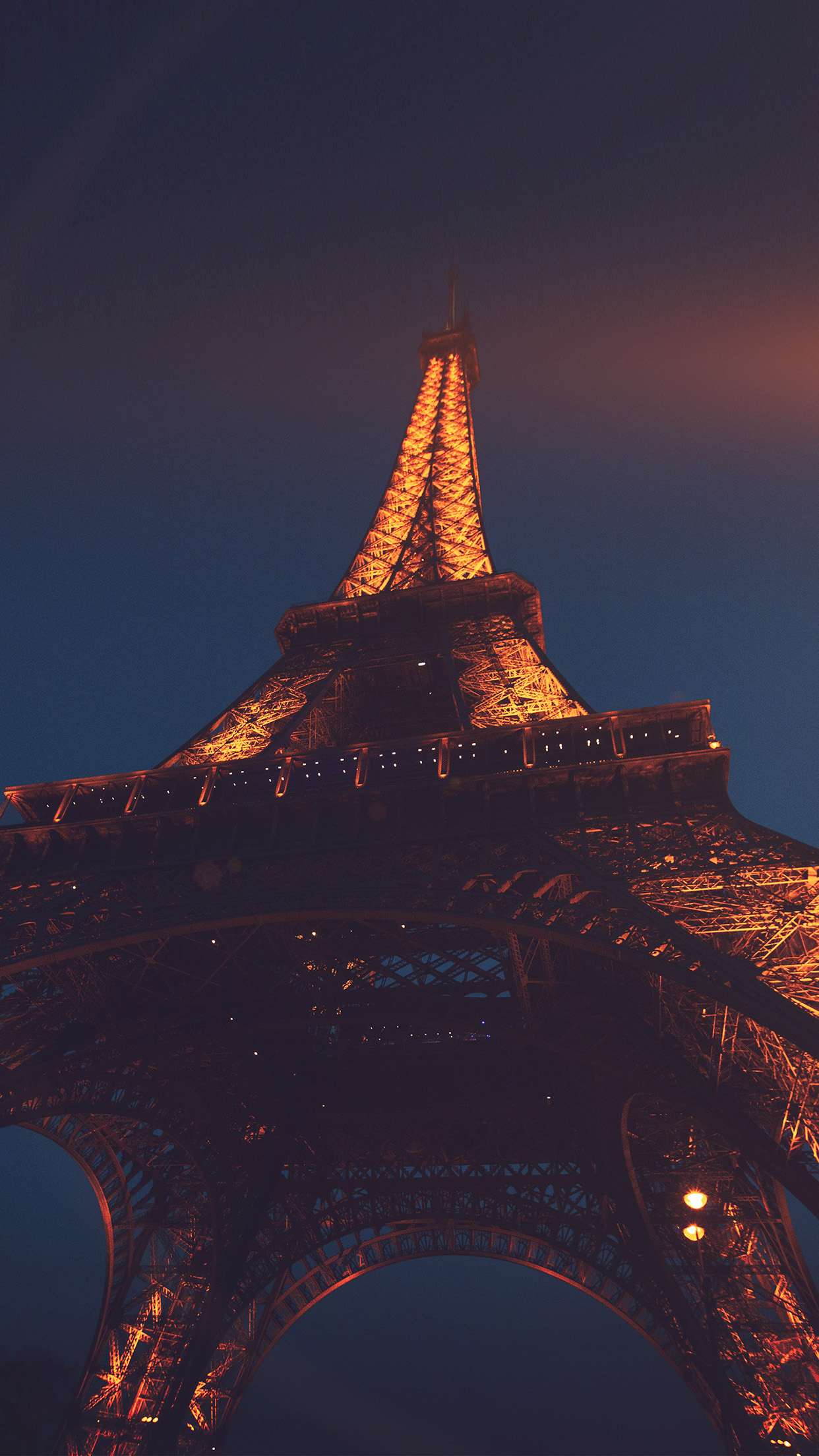 Nh38 Eiffel Tower Paris France Tour Vacation City Night Flare Wallpaper