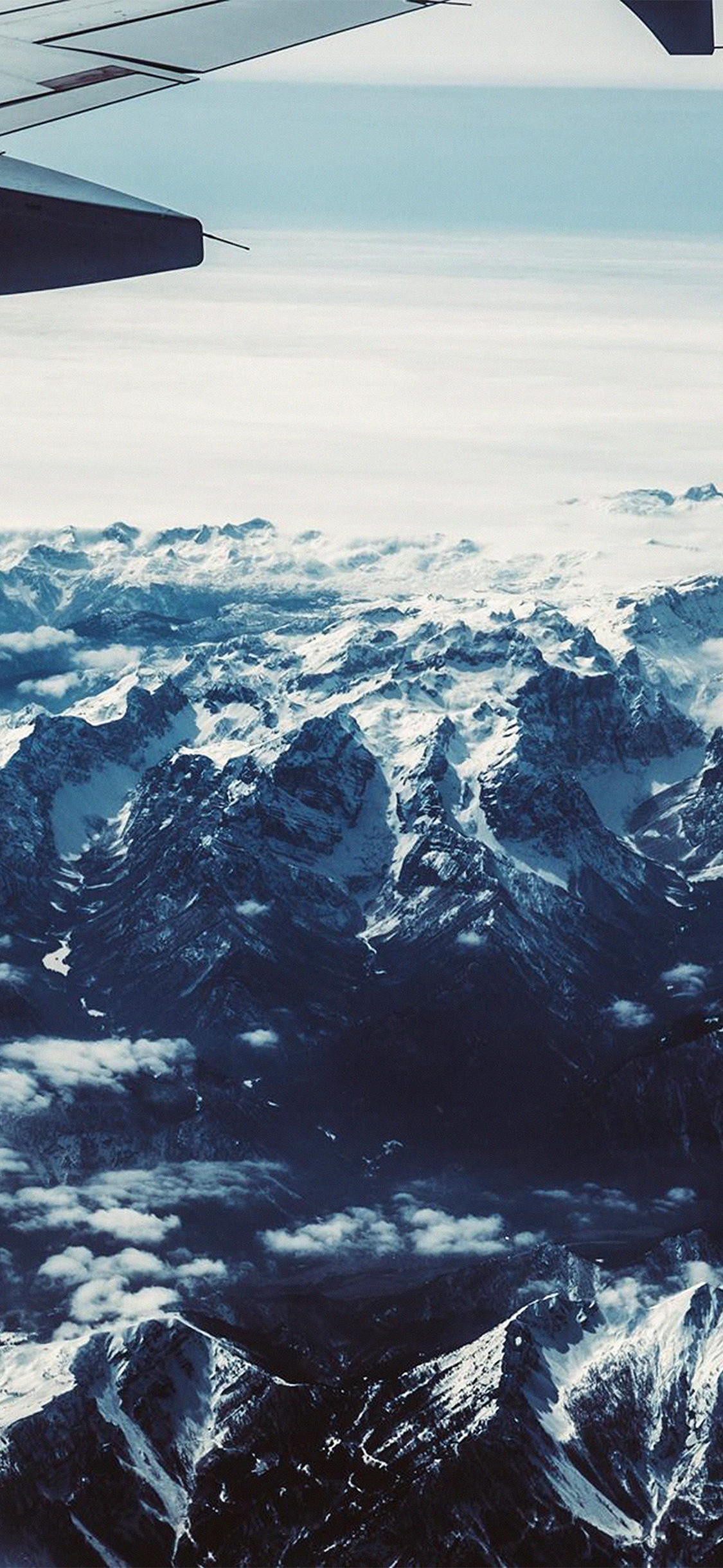 Nh43 Airplane Sky Mountain Snow Ice Nature Wallpaper