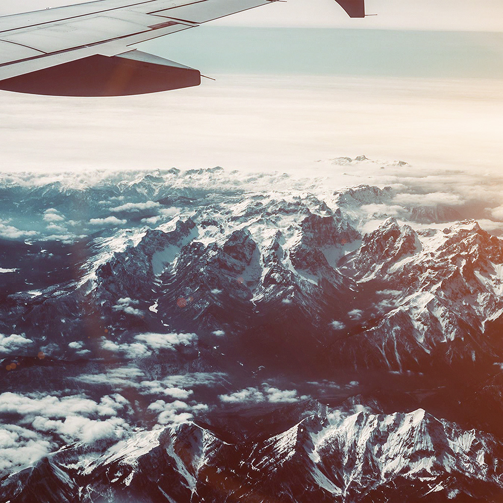 android-wallpaper-nh44-airplane-sky-mountain-snow-ice-nature-flare-wallpaper