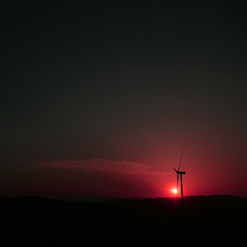 wallpaper-nh46-sunset-sky-minimal-mountain-nature-red-wallpaper